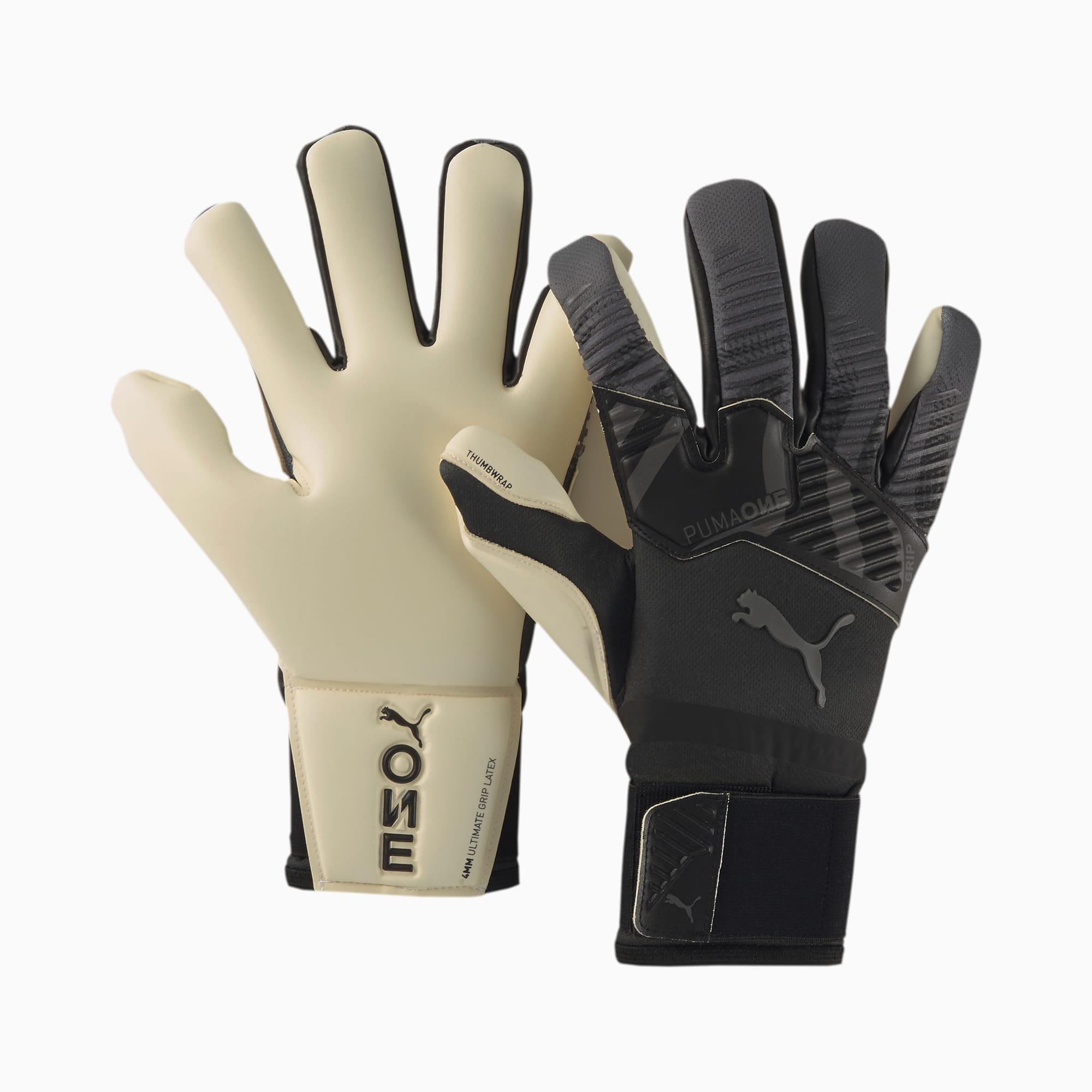 Gants de goal de foot PUMA ONE Grip 1 Hybrid Pro, Noir/Gris/Blanc, Taille 11, Accessoires