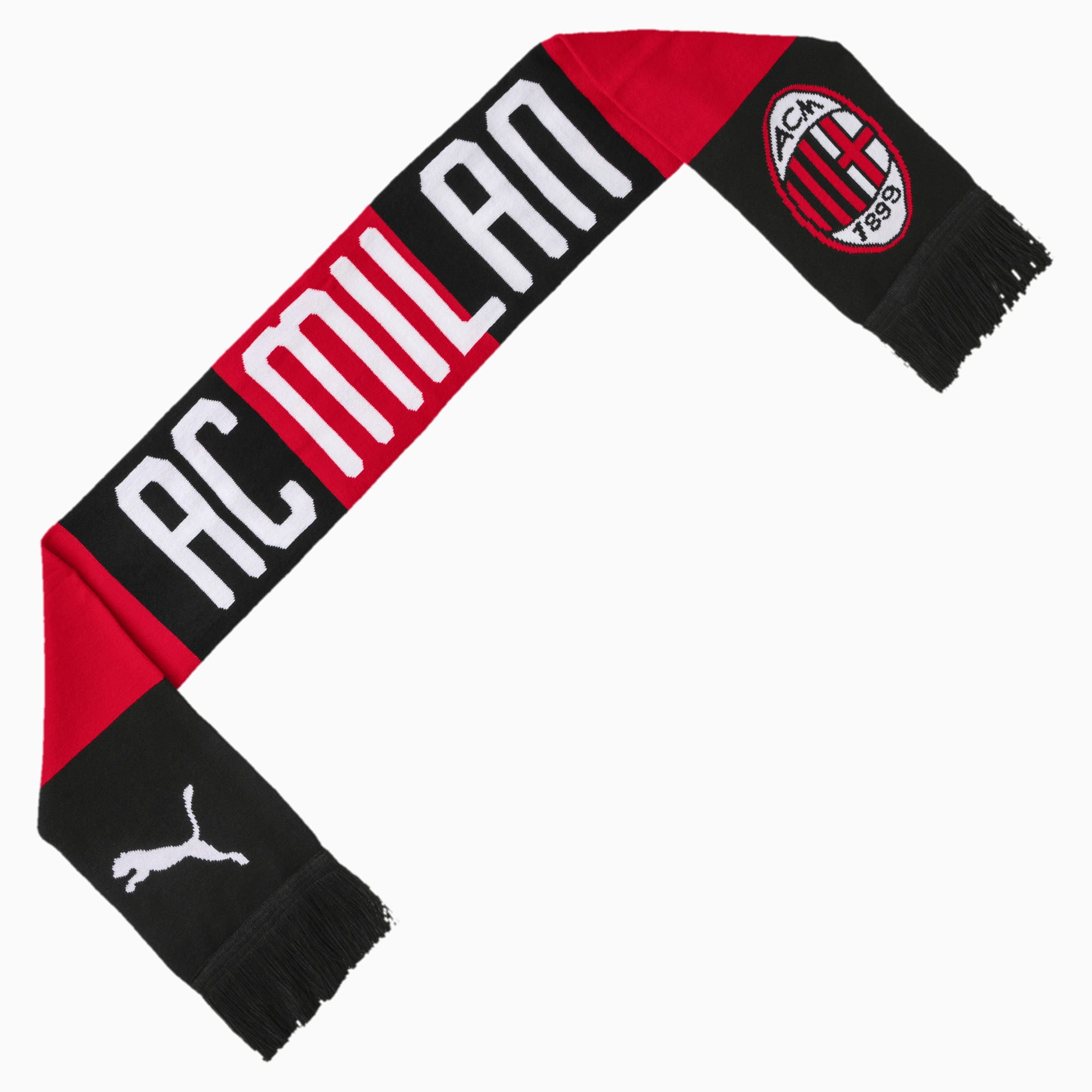 PUMA Écharpe AC Milan Fan, Rouge/Noir, Vêtements