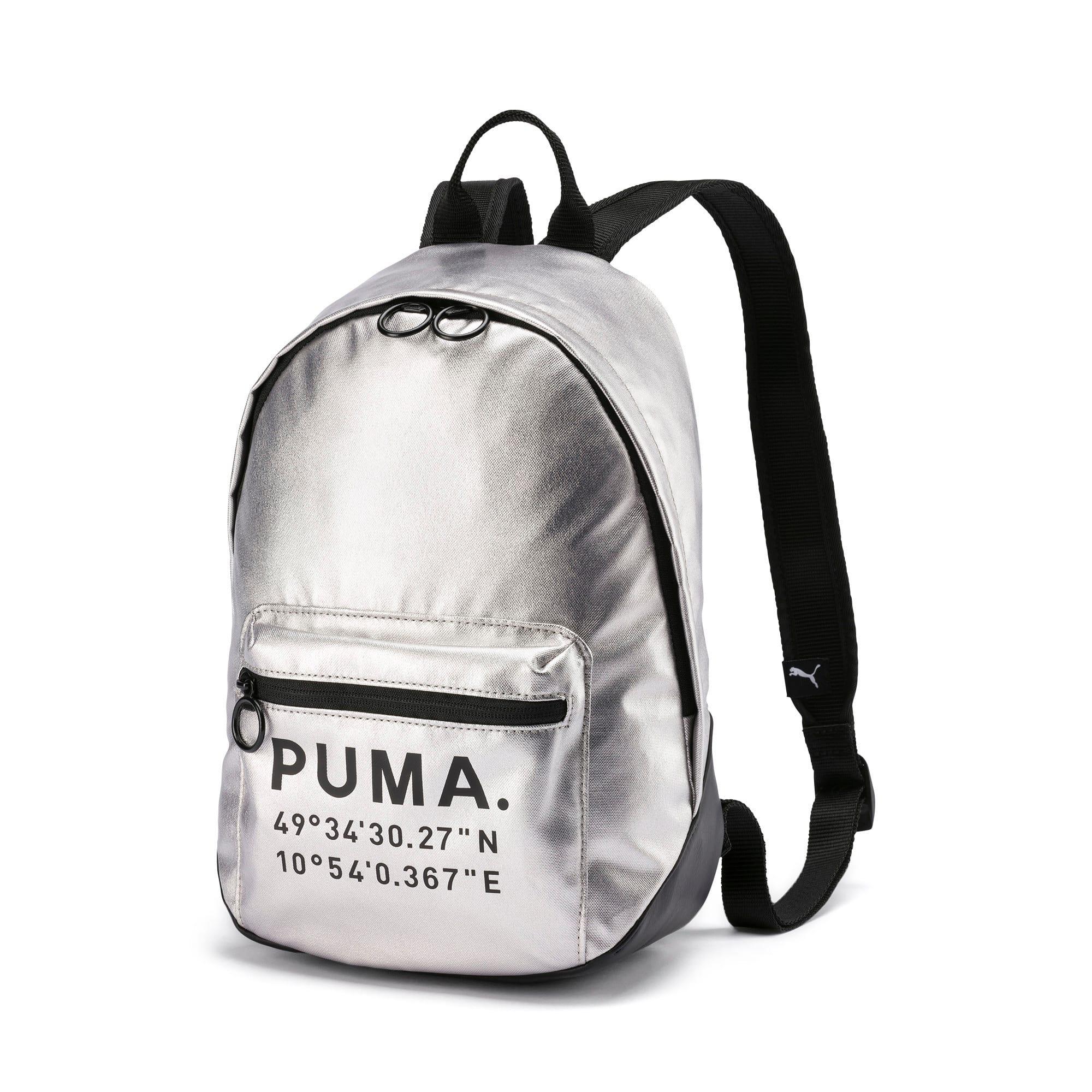 Time Archive Backpack voor Dames, Zwart/Zilver | PUMA