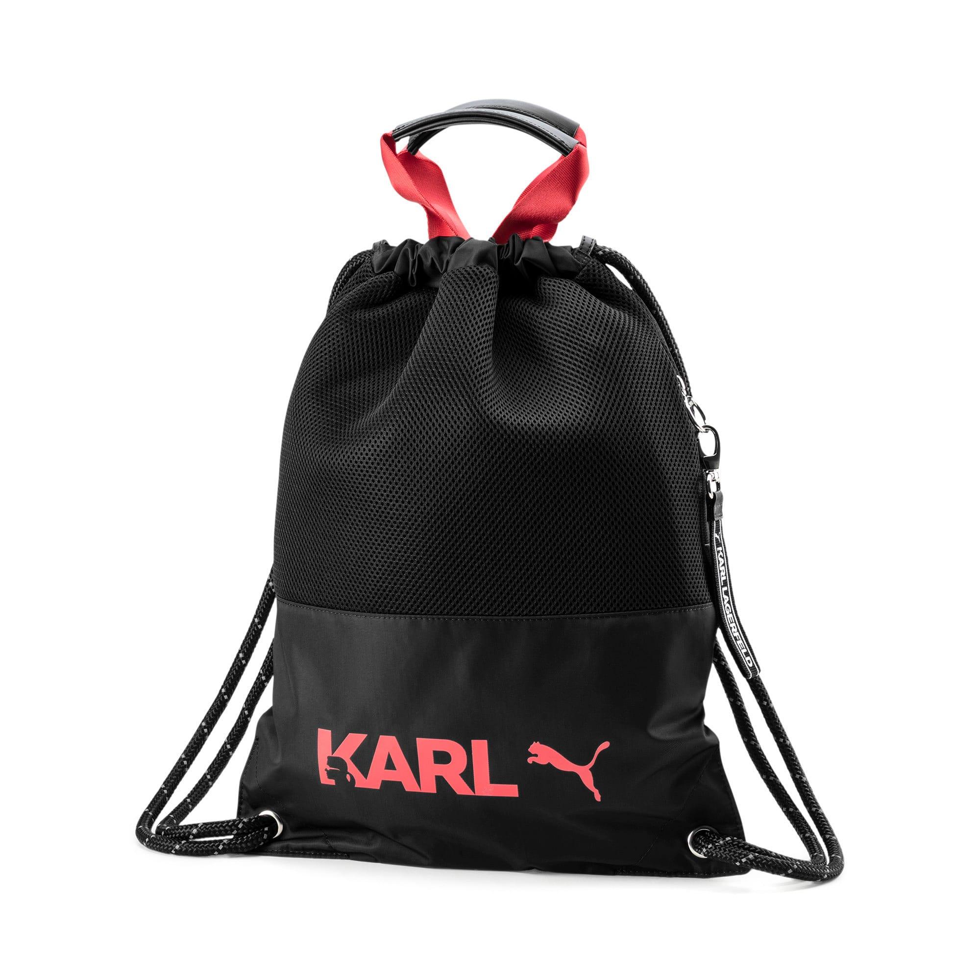 PUMA x KARL LAGERFELD Backpack Tote Bag, Zwart