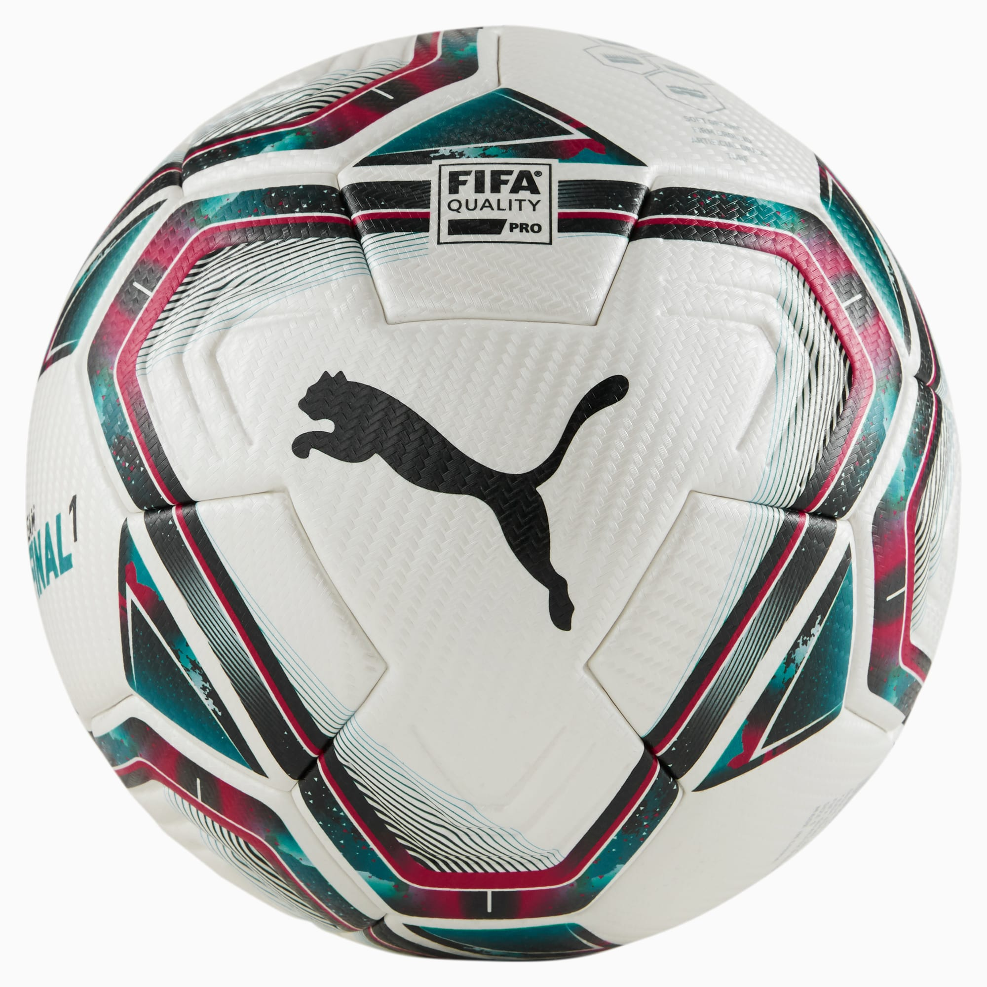 Pallone FINAL 1 FIFA Quality Pro, Blu/Rosa/Rosso, Taglia 5   PUMA
