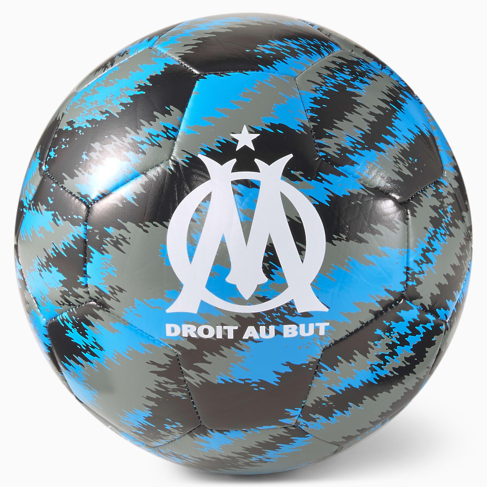 Pallone da calcio per allenamento OM Iconic Big Cat, Nero/Blu, Taglia 5   PUMA