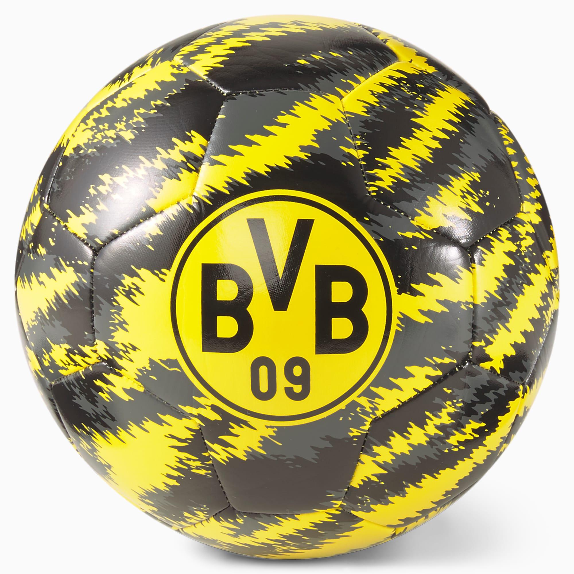 PUMA BVB Iconic Big Cat Fußball | Schwarz | Größe: 5