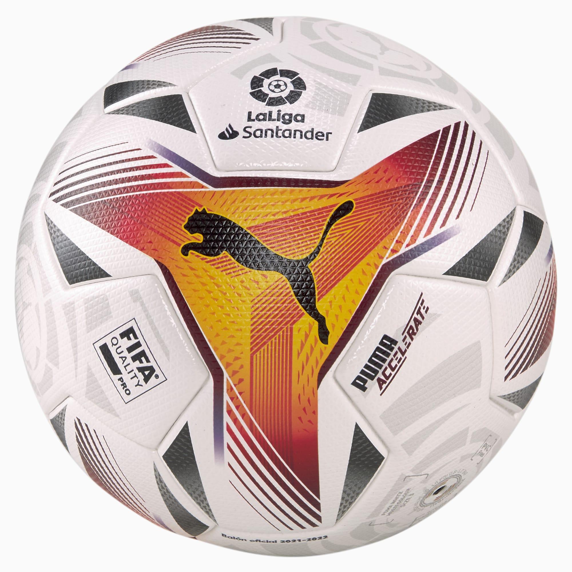 PUMA LA LIGA 1 Accelerate FQP Fußball | Weiß | Größe: 5