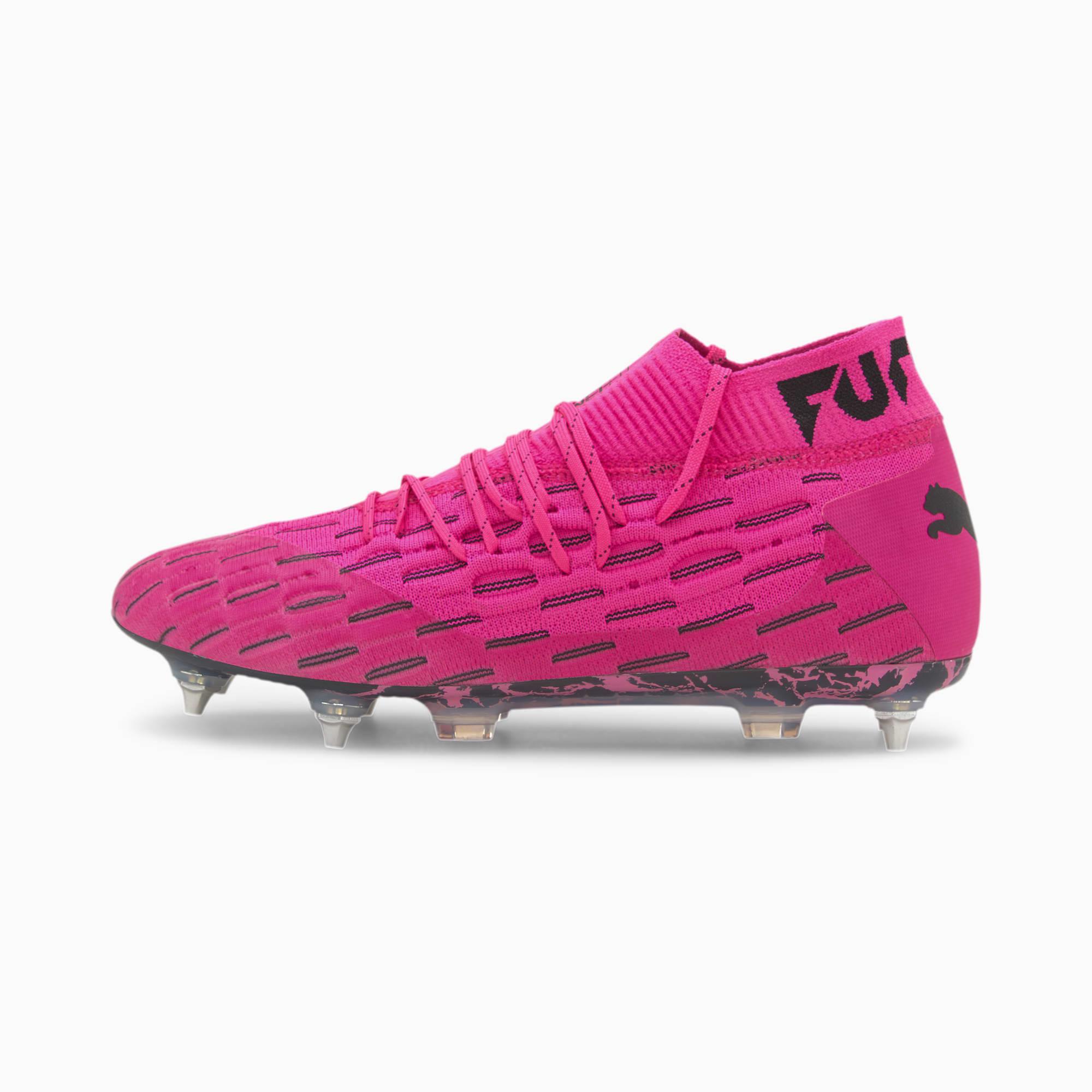 PUMA Chaussures de football Future 6.1 NETFIT MxSG, Rose/Noir, Taille 41, Vêtements