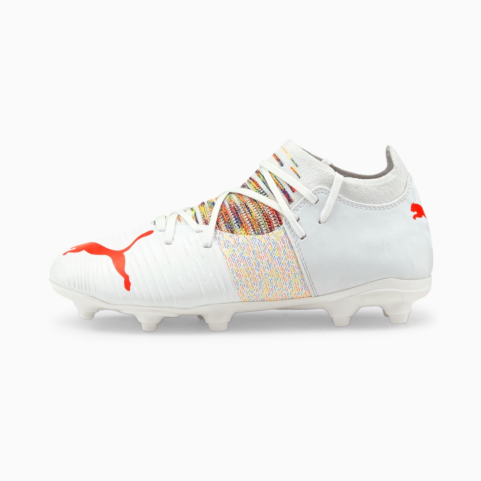 FUTURE Z 3.1 FG/AG voetbalschoenen jongeren, Wit/Rood, Maat 34,5 | PUMA