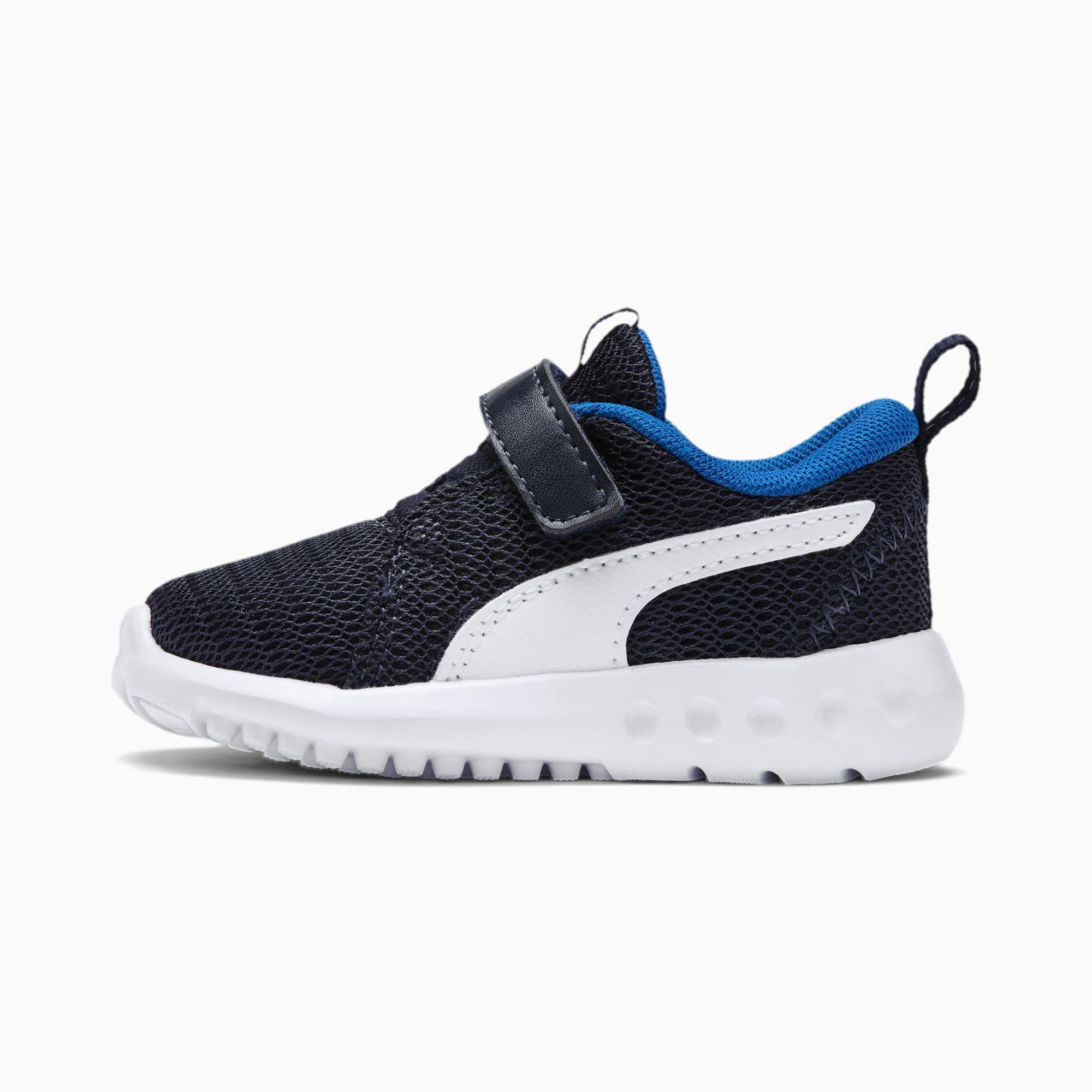 chaussure basket carson 2 v pour bébé, bleu/blanc, taille 19, chaussures