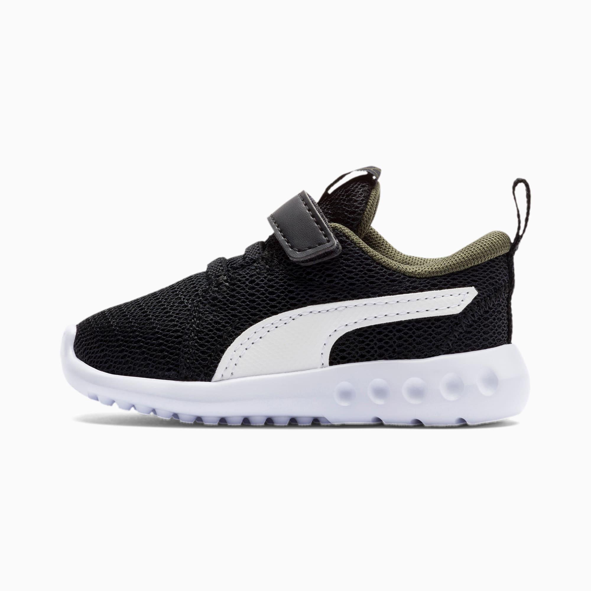 chaussure basket carson 2 v pour bébé, blanc/vert/noir, taille 21, chaussures
