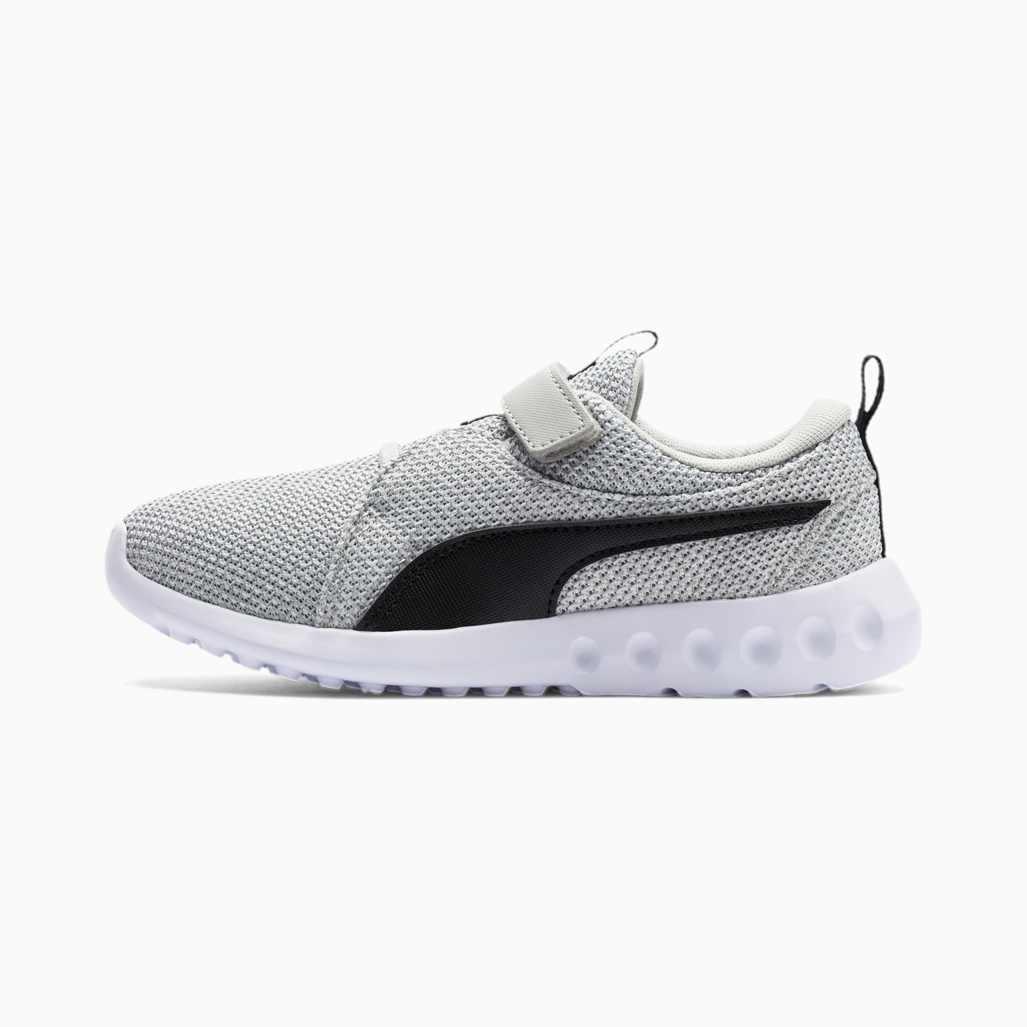 chaussure basket carson 2 bold knit v pour enfant, gris/noir, taille 29, chaussures