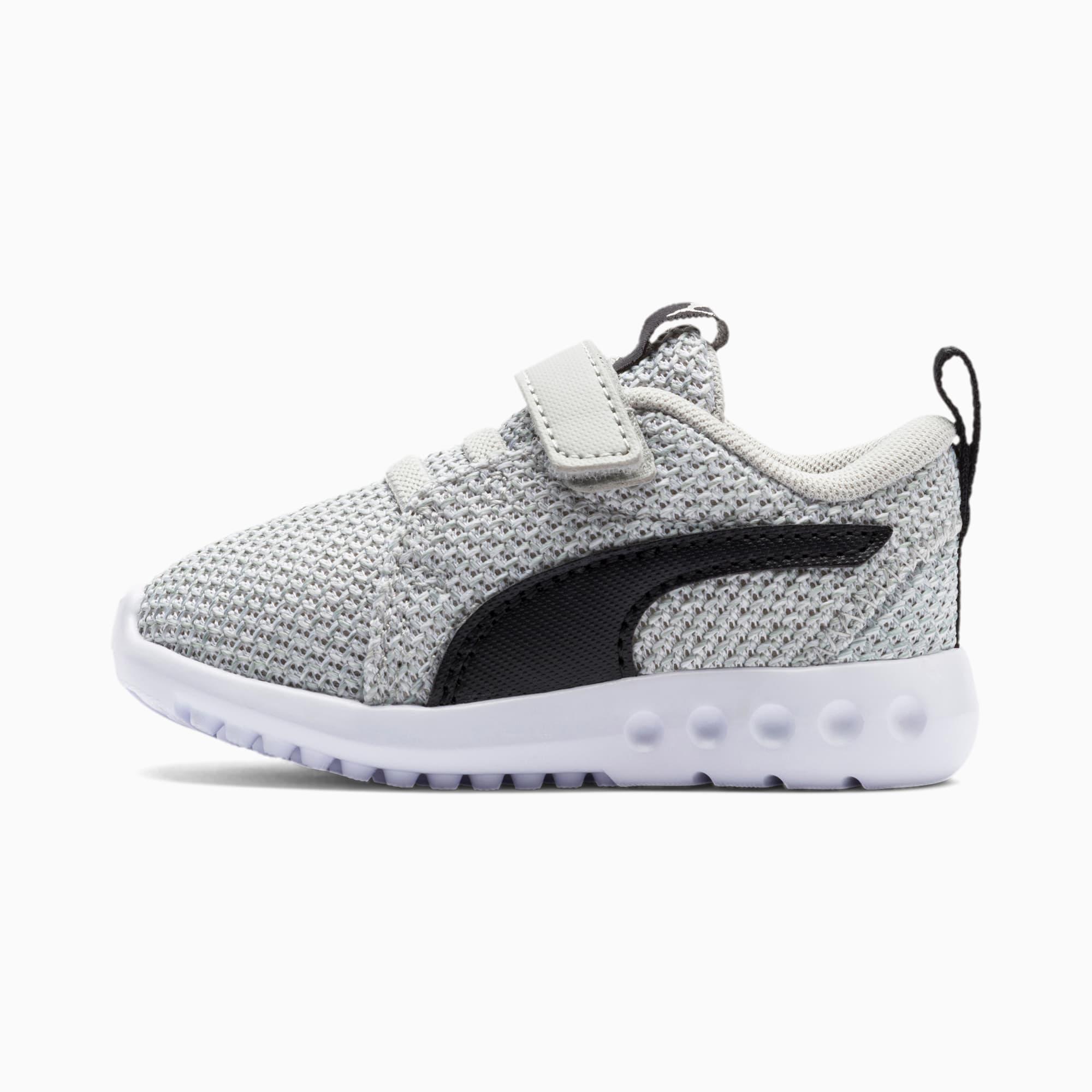 chaussure basket carson 2 bold knit pour bébé, gris/noir, taille 22, chaussures
