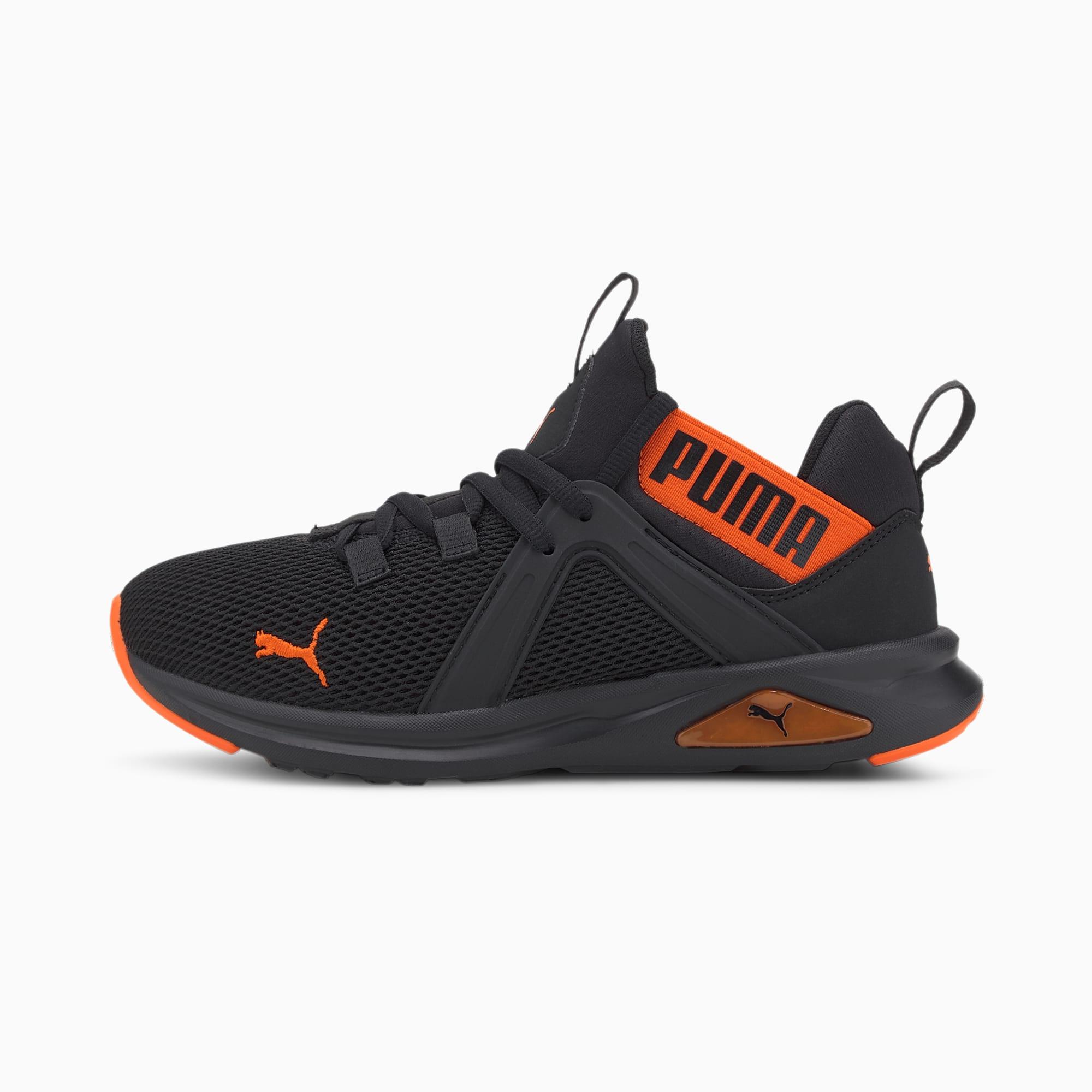 PUMA Enzo 2 Weave Youth Sneaker Schuhe Für Kinder | Schwarz | Größe: 39