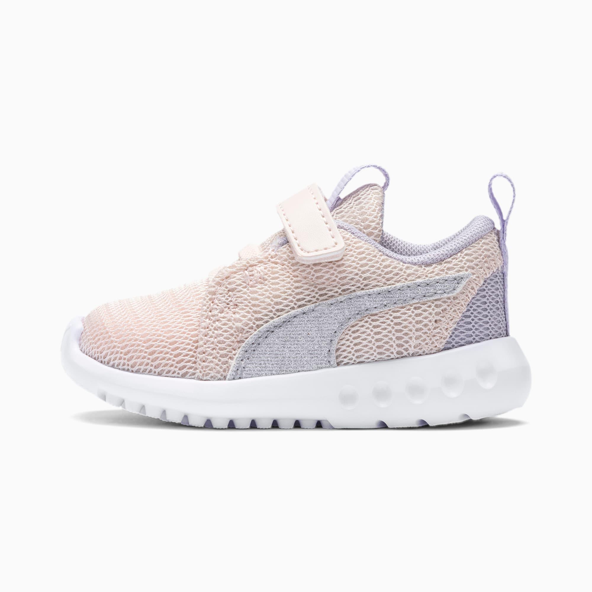 chaussure basket carson 2 glitter v pour bébé fille, violet/rose/bruyère, taille 21, chaussures