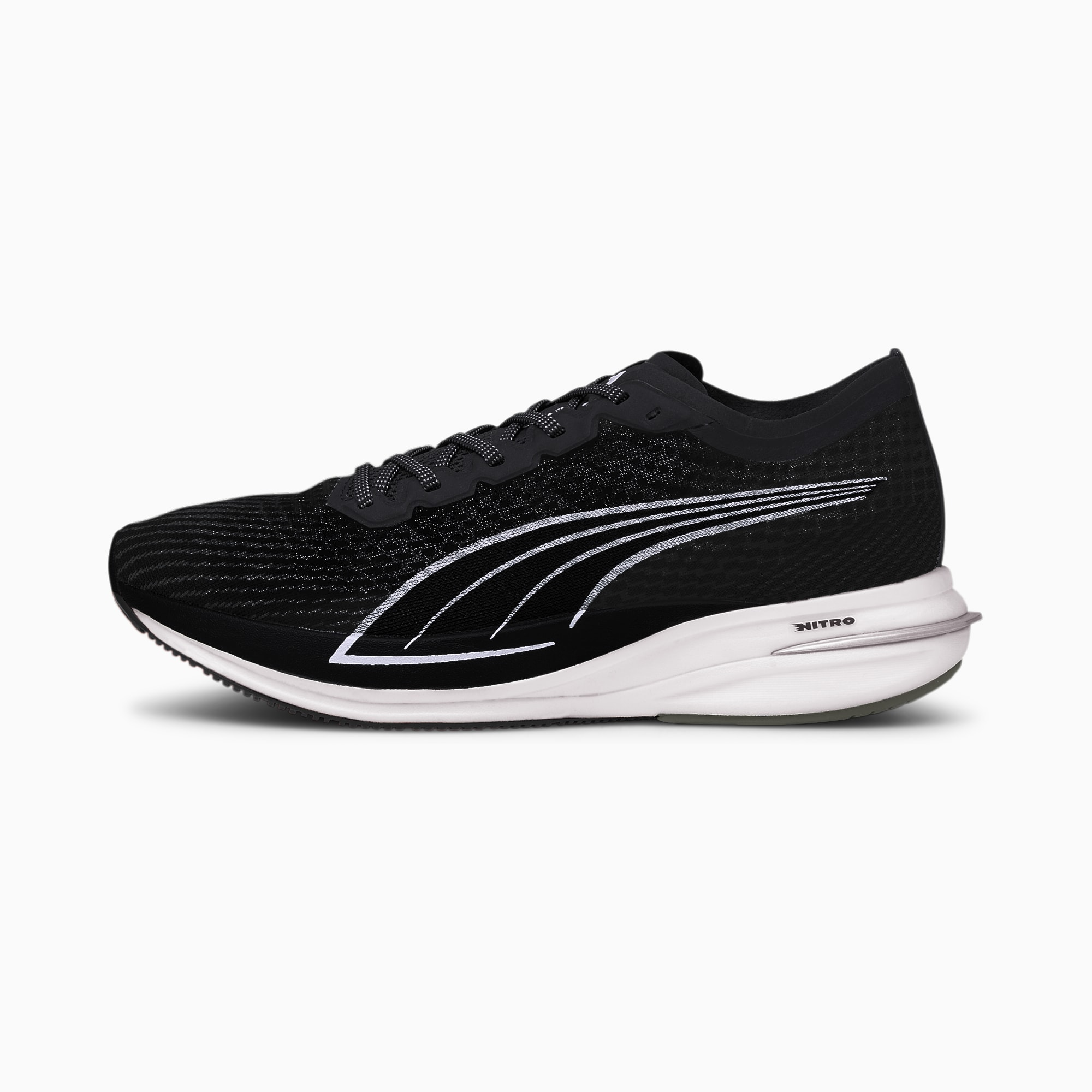 Zapatillas de Running Deviate Nitro Para Hombre, Plateado/Negro, Talla 44.5   PUMA Hombres