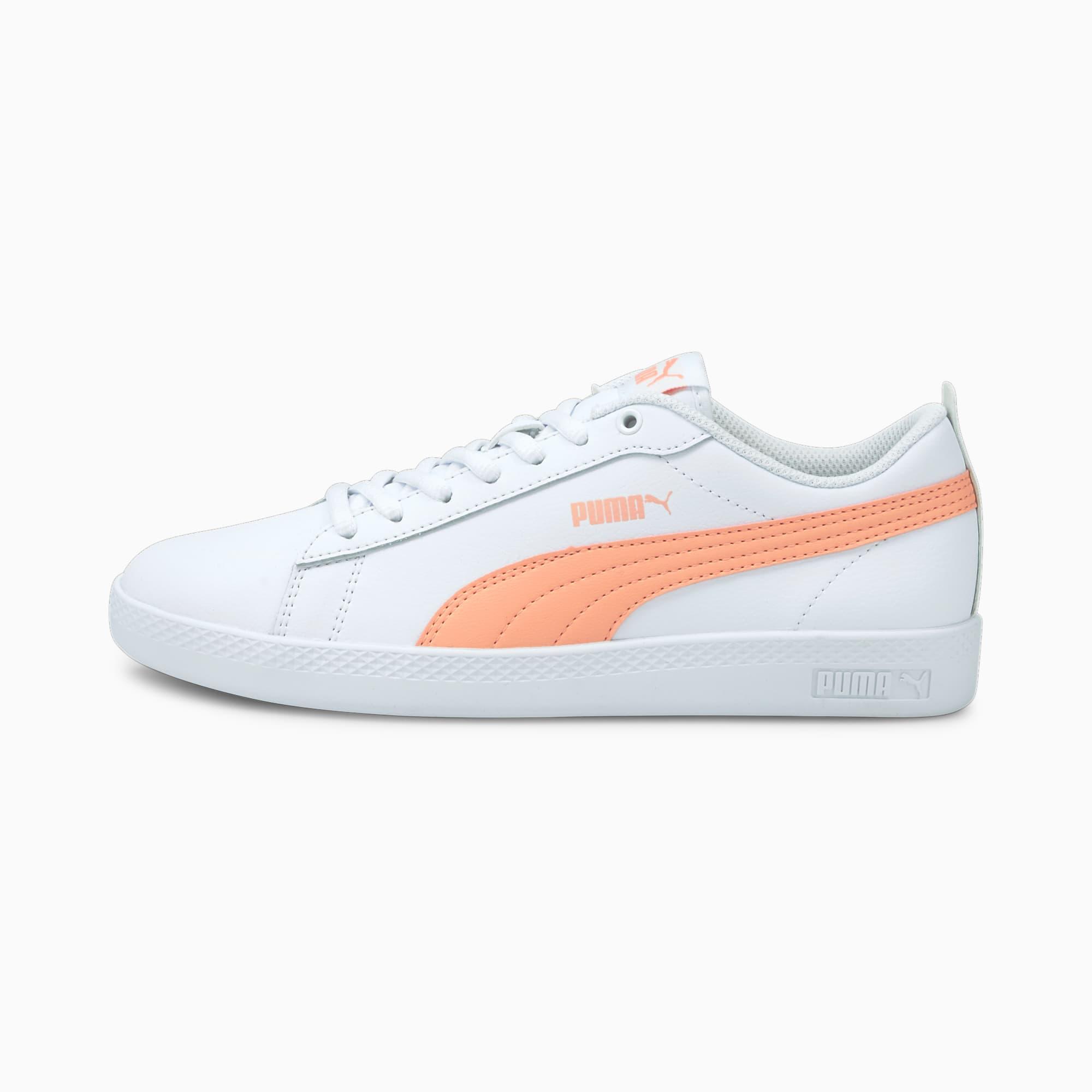 PUMA Smash v2 Leder Damen Sneaker Schuhe | Mit Aucun | Weiß/Schwarz | Größe: 37.5