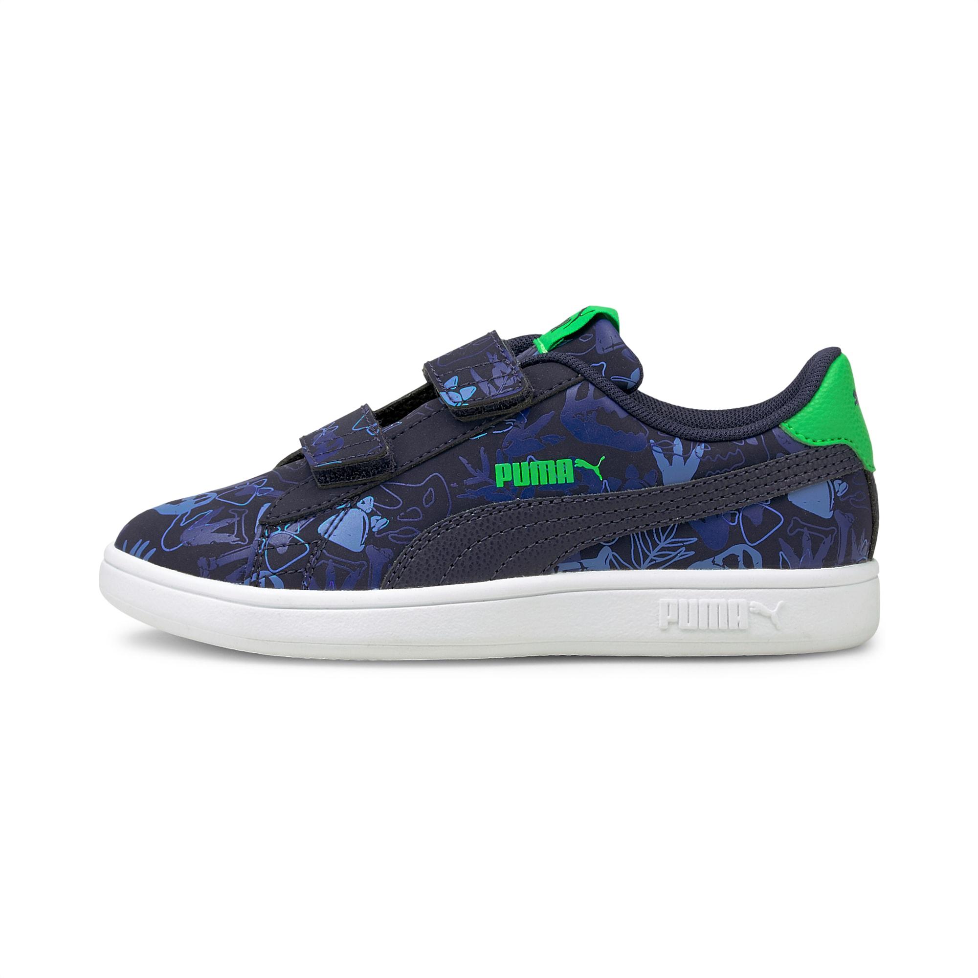 PUMA Smash v2 Archeo Summer Kinder Sneaker Schuhe   Mit Aucun   Blau   Größe: 31.5