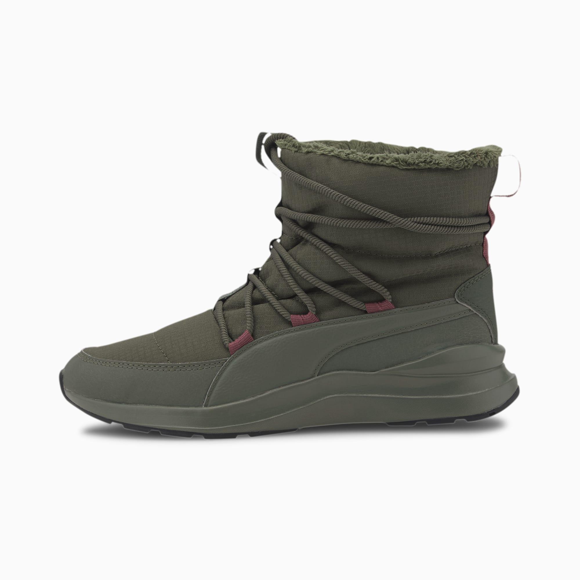 PUMA Chaussure Bottine d'hiver Adela pour Femme, Vert, Taille 36, Chaussures