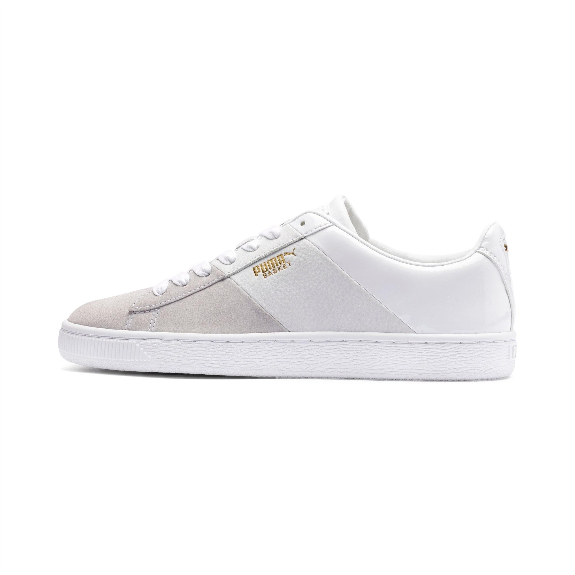 PUMA Damskie Buty Sportowe Basket Remix Biały Złoty, rozmiar 36, Obuwie