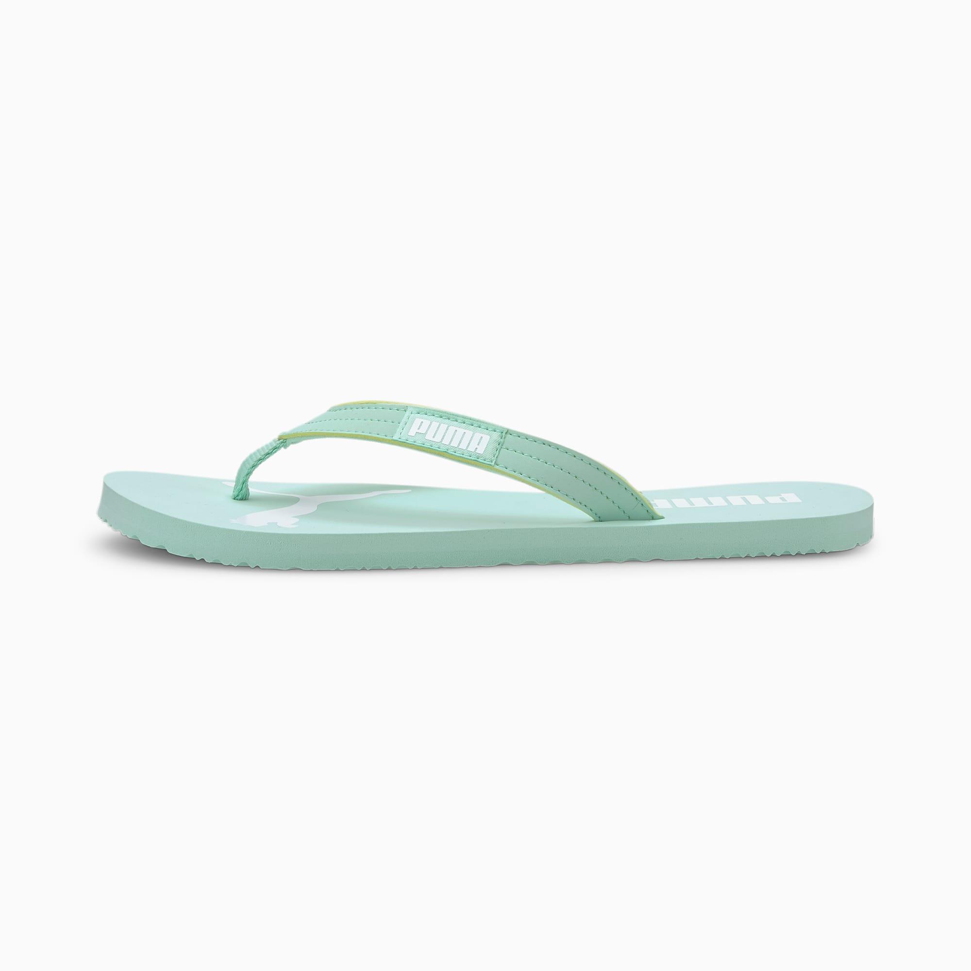 puma -  Cosy Flip Sandalen   Mit Aucun   Grün/Weiß   Größe: 37