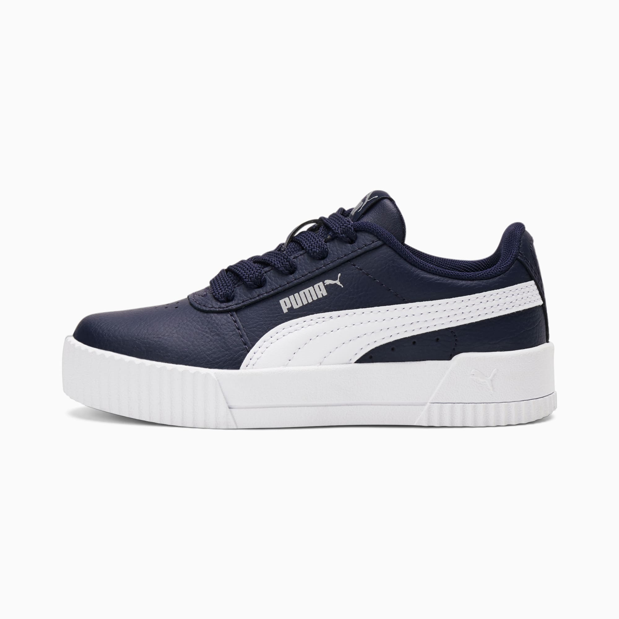 PUMA Carina L Kids Mädchen Sneaker Schuhe   Mit Aucun   Blau/Weiß   Größe: 32.5