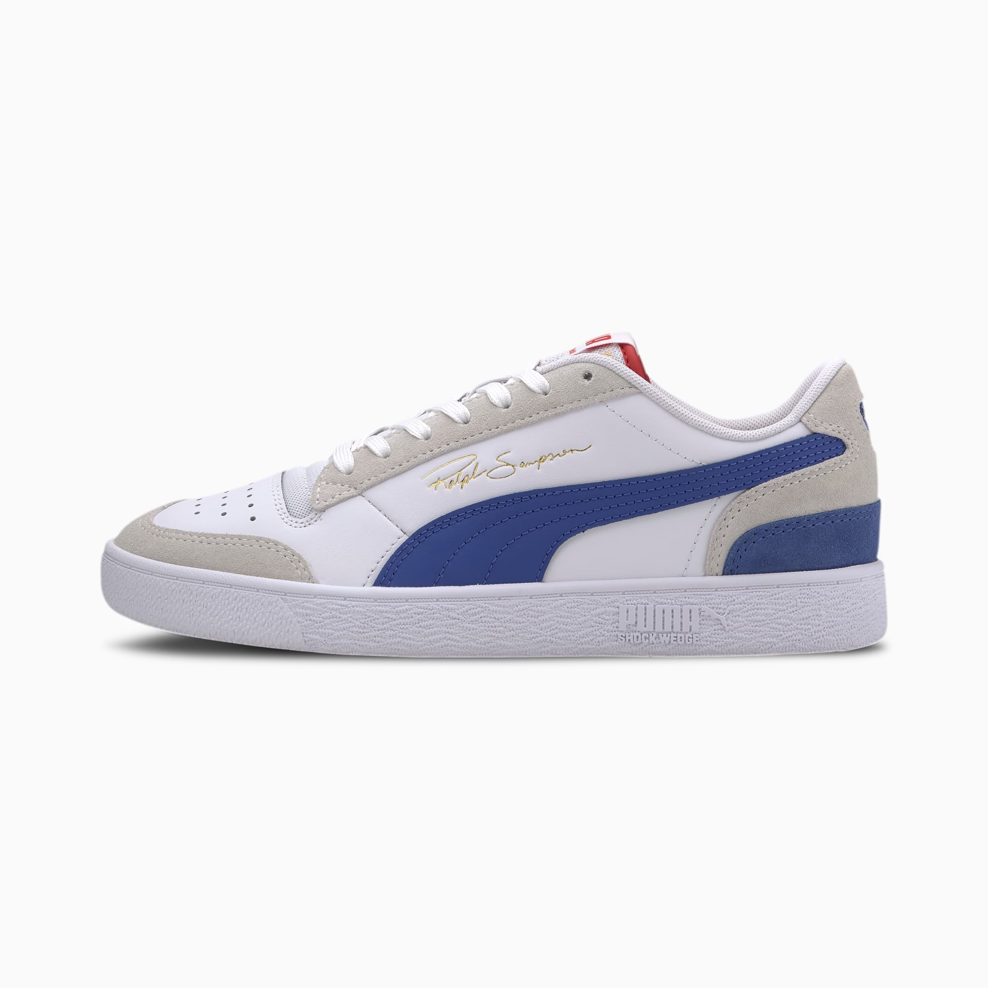 chaussure basket ralph sampson lo vintage, blanc, taille 36, chaussures