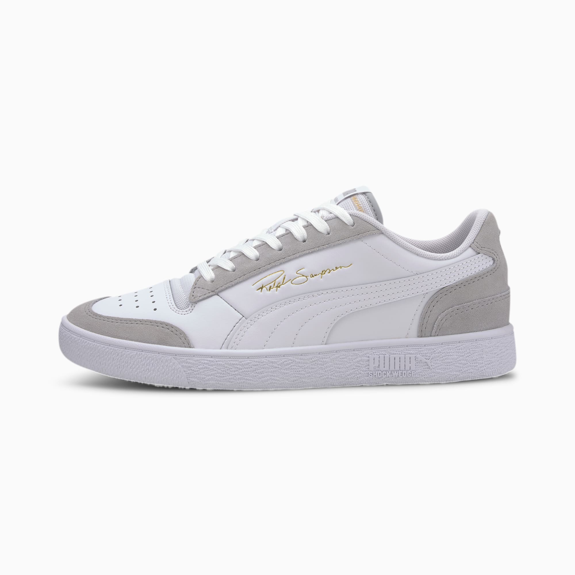 chaussure basket ralph sampson lo vintage, blanc/gris, taille 37, chaussures