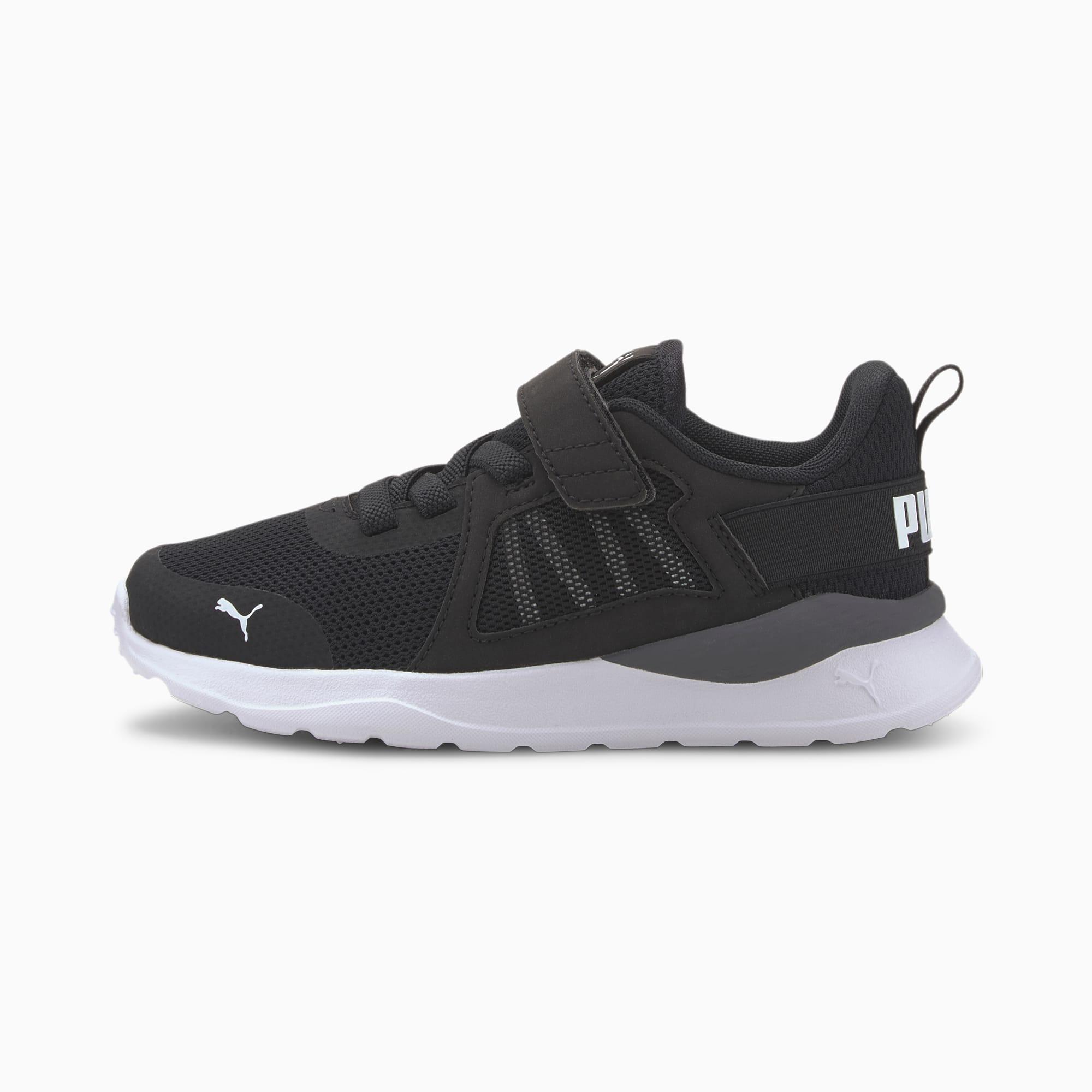 PUMA Anzarun AC Kids Sneaker Schuhe Für Kinder | Mit Aucun | Schwarz/Weiß | Größe: 32.5