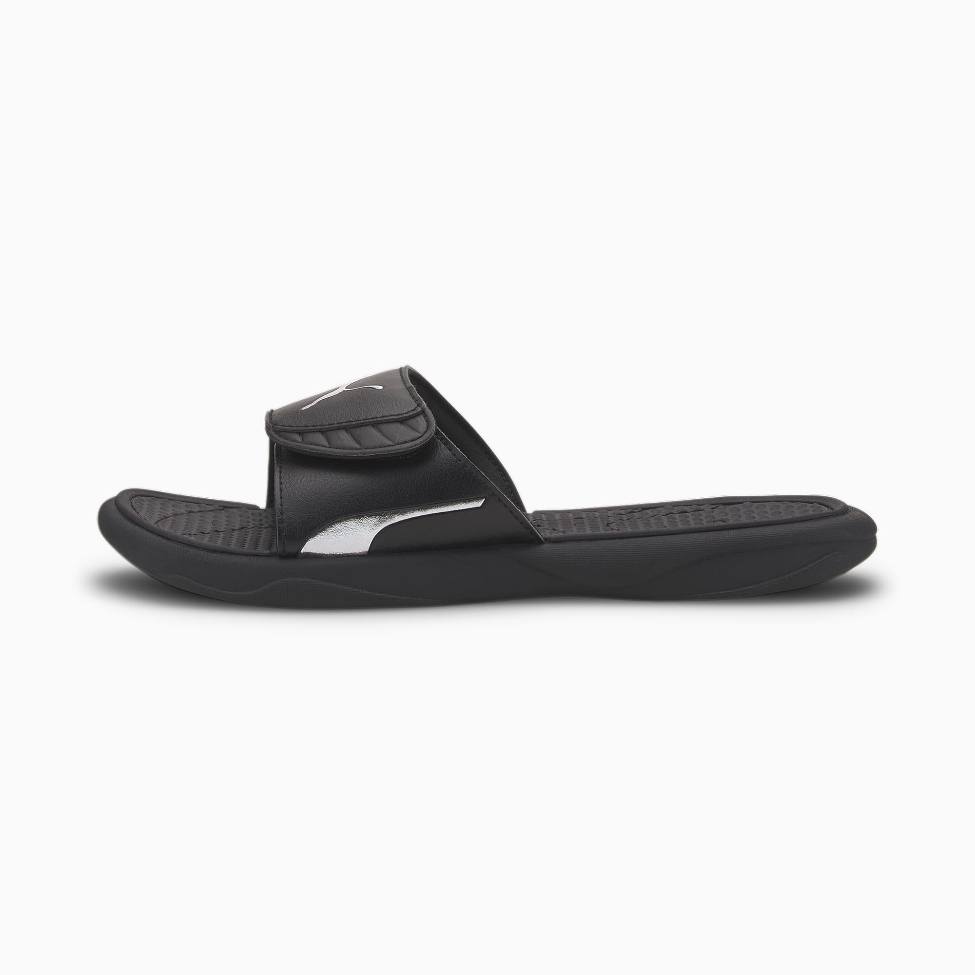 puma -  Royalcat Comfort Sandalen   Mit Aucun   Schwarz/Silber   Größe: 40.5
