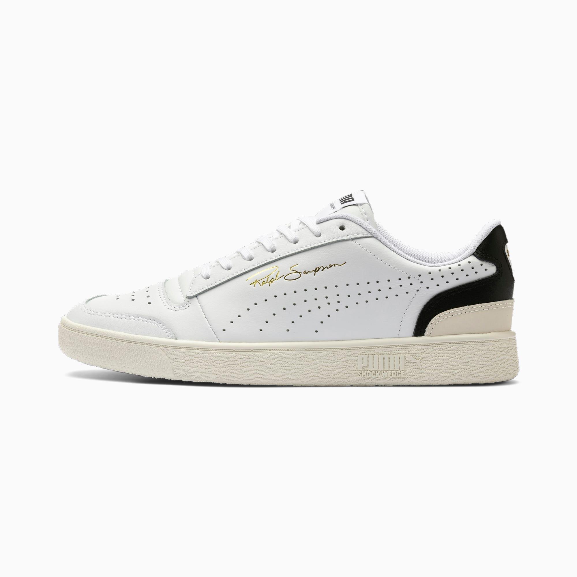 PUMA Ralph Sampson Lo Perforated Soft Sneaker Schuhe   Mit Aucun   Weiß/Schwarz   Größe: 42.5
