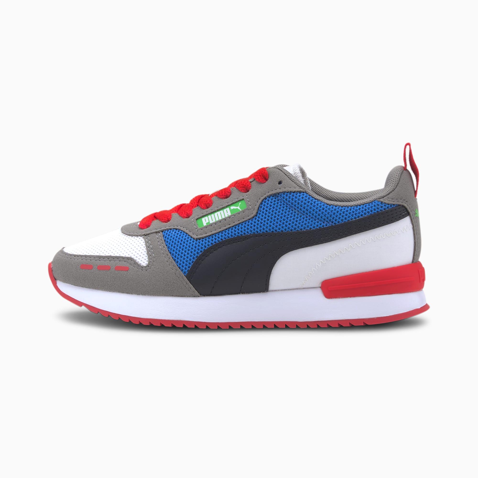 PUMA R78 Youth Sneaker Schuhe Für Kinder | Mit Aucun | Weiß/Schwarz/Grau | Größe: 38.5