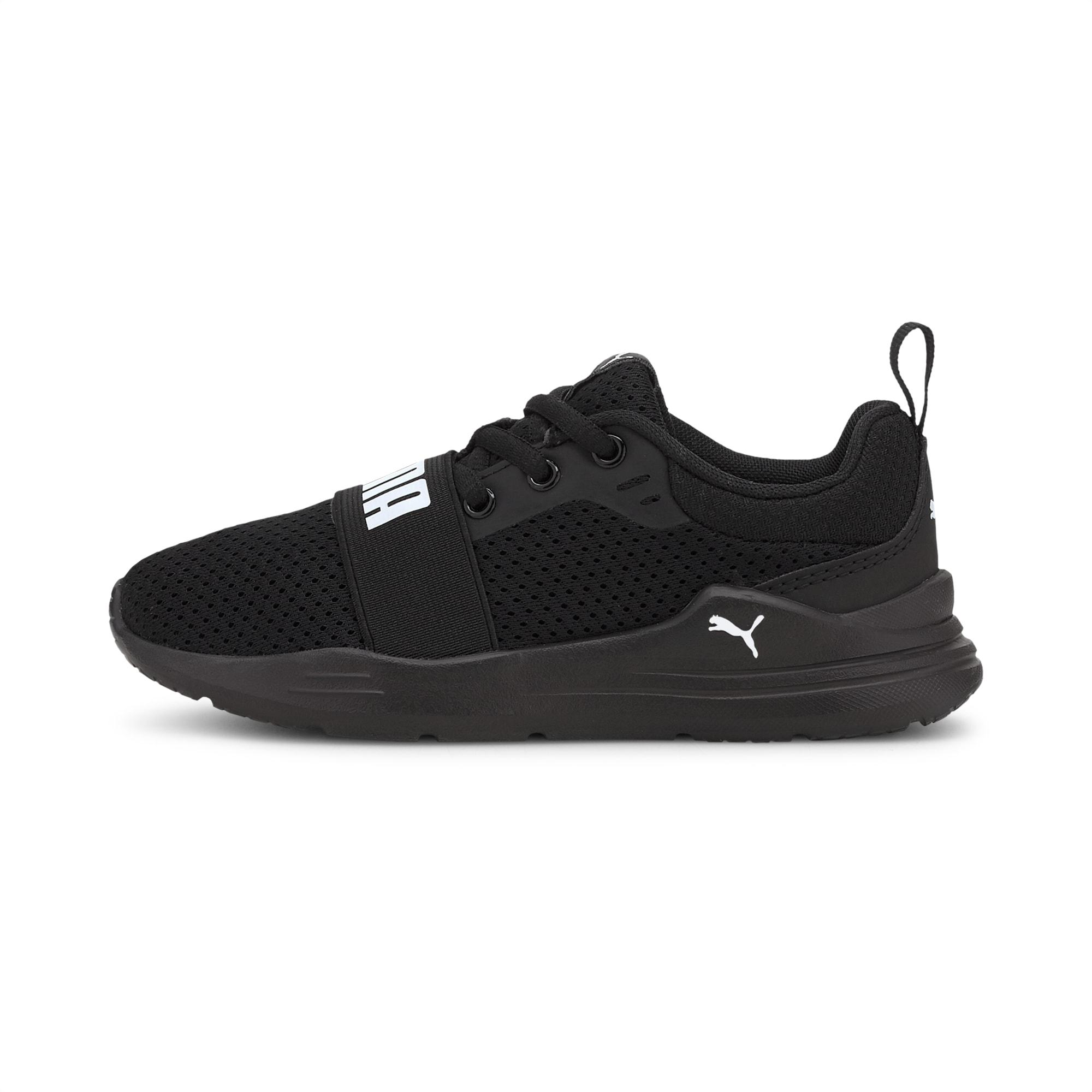 PUMA Wired Run Kinder Sneaker Schuhe | Schwarz | Größe: 27.5