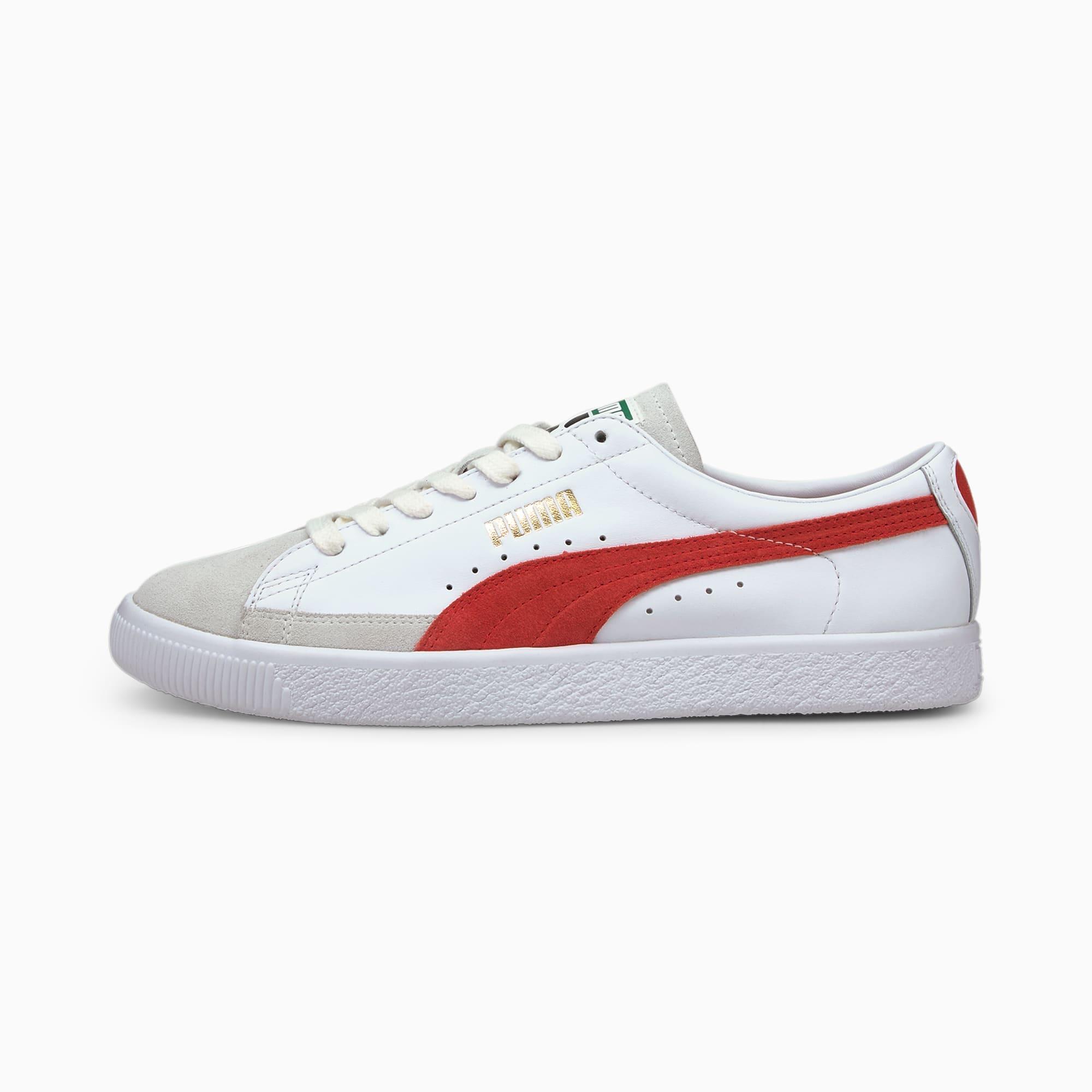 Chaussure Baskets Basket VTG, Blanc/Rouge, Taille 39, Chaussures - PUMA - Modalova