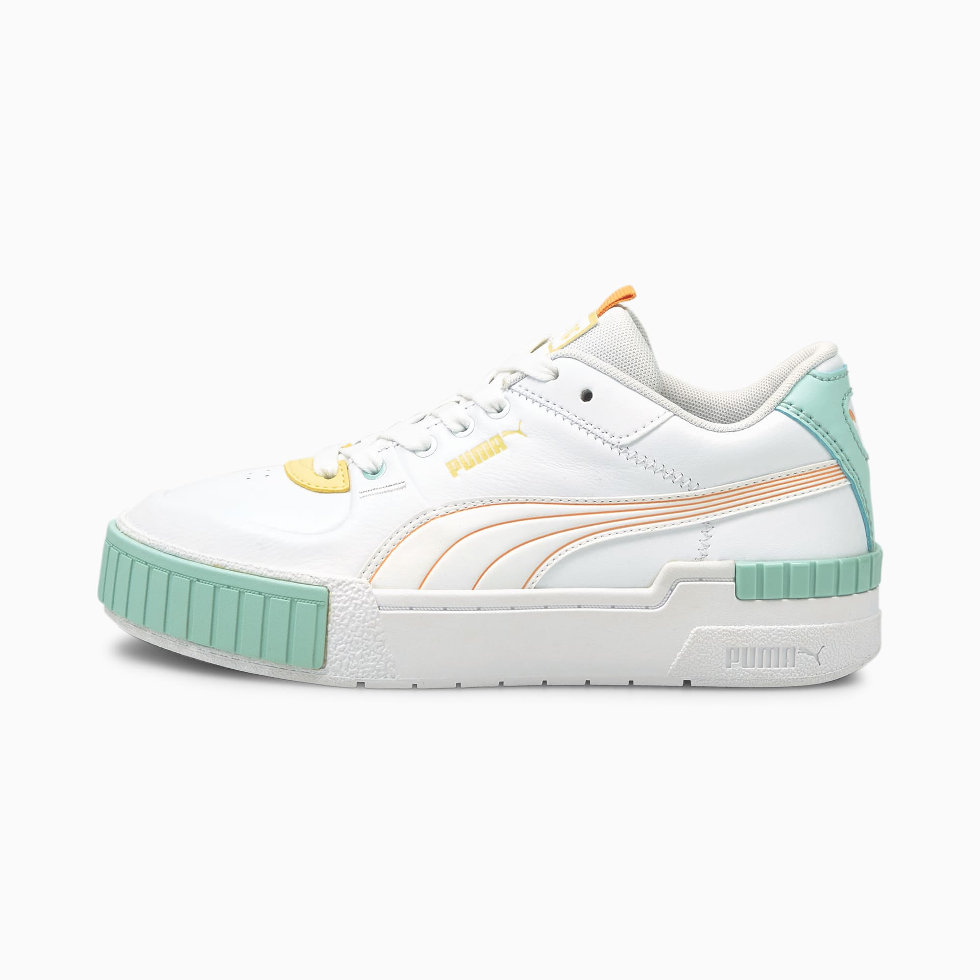 Cali Sport Pastel Mix sneakers dames, Wit/Roze, Maat 38,5   PUMA