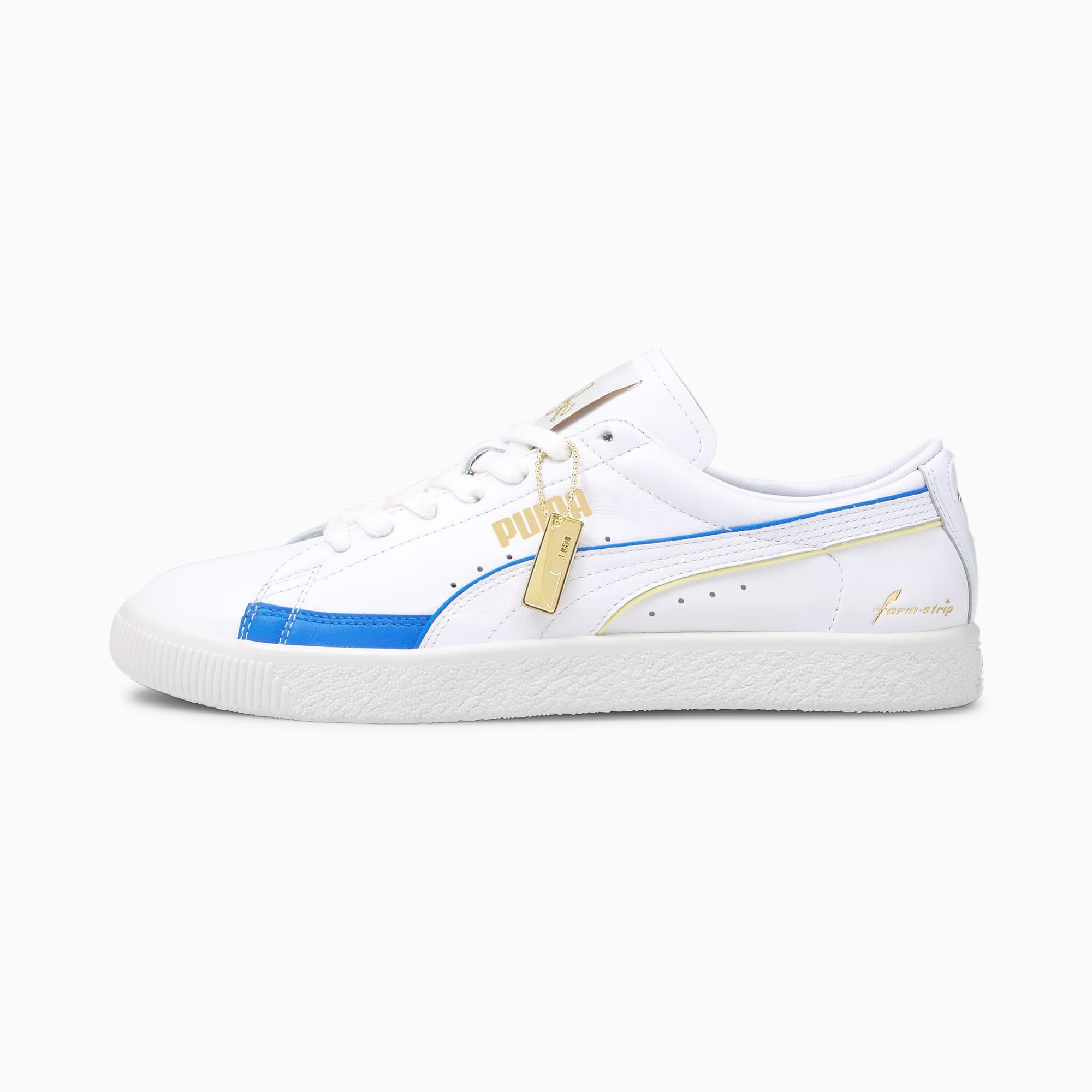 PUMA Basket Rudolf Dassler Legacy Vintage Herren Sneaker Schuhe | Mit Aucun | Weiß/Blau/Grau | Größe: 42.5