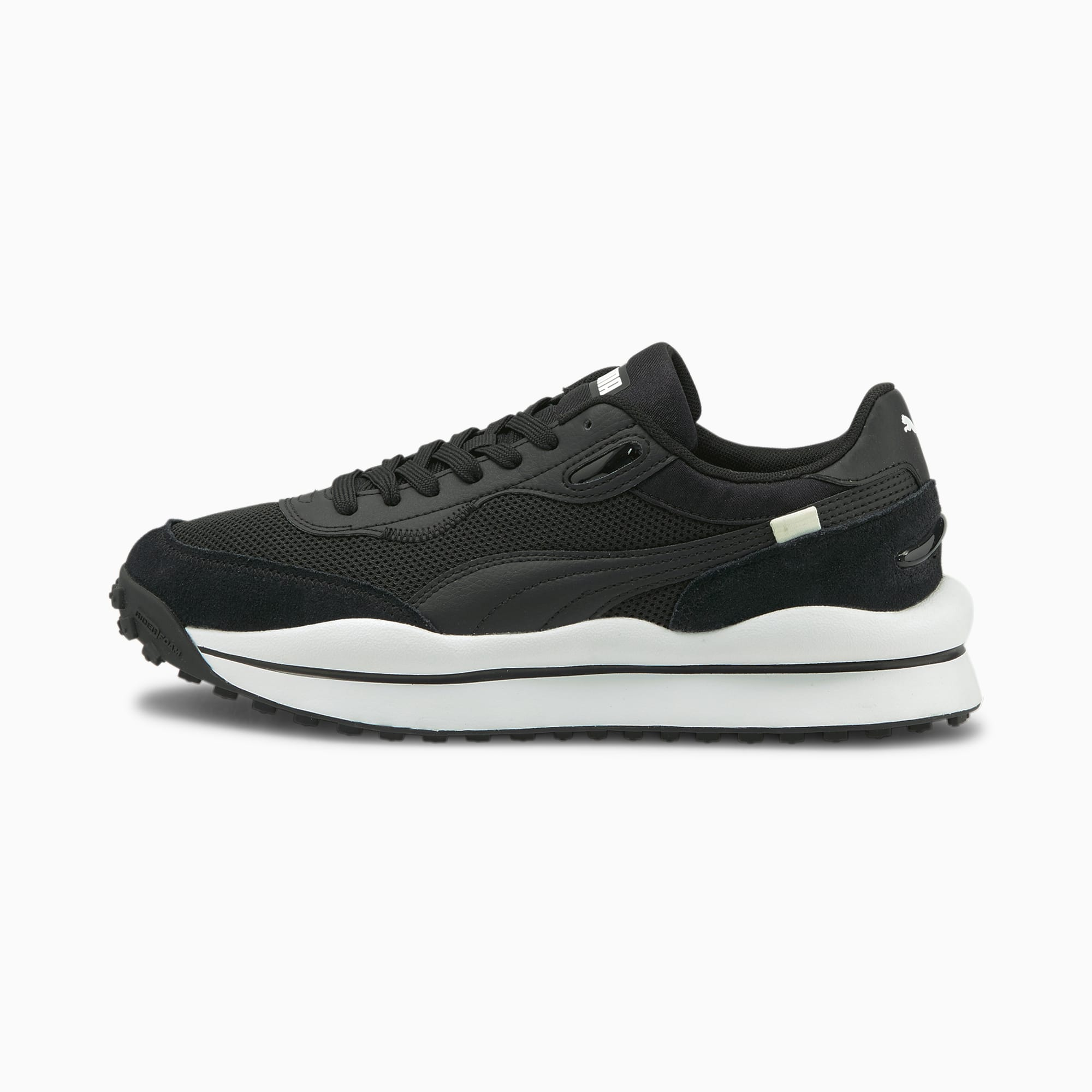 Style Rider Clean sneakers, Wit/Zwart, Maat 35,5 | PUMA