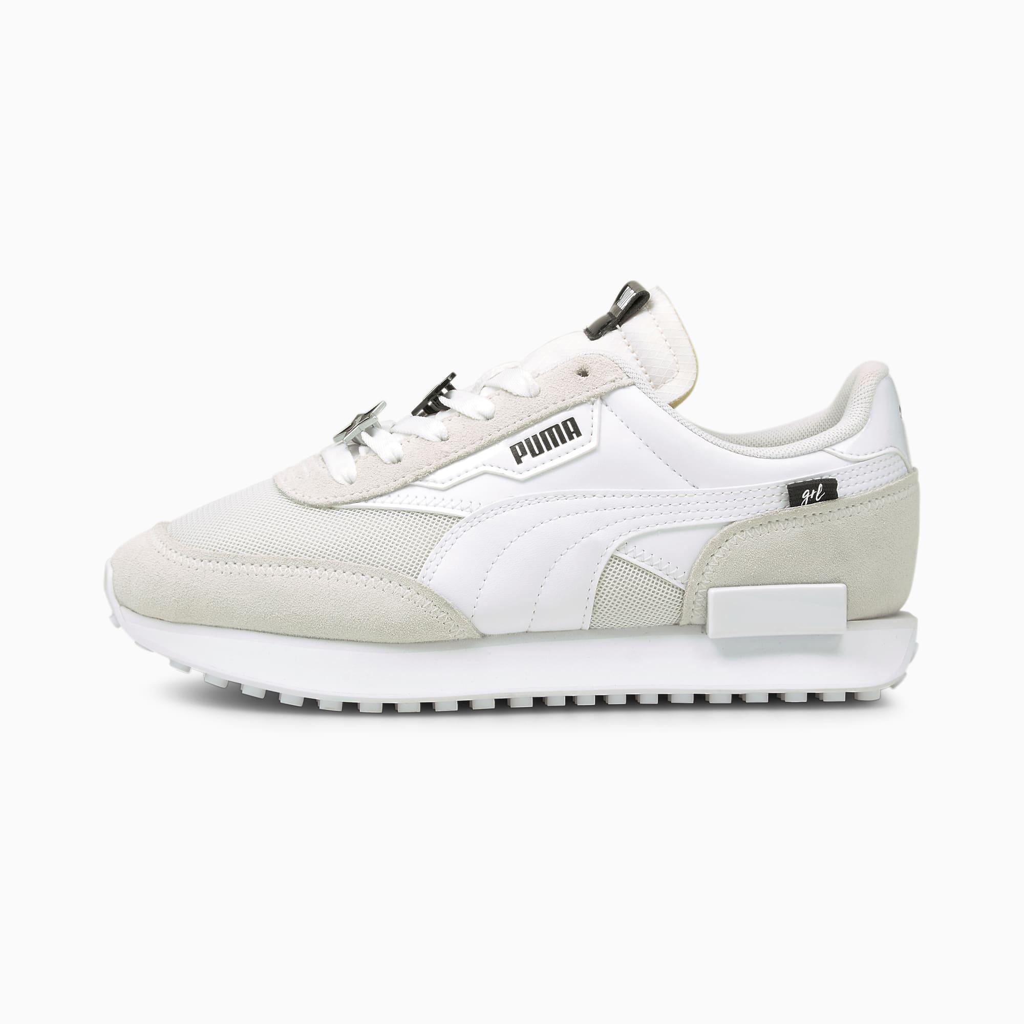 PUMA Future Rider Galantine's Damen Sneaker Schuhe   Mit Aucun   Silber/Schwarz/Weiß   Größe: 38.5