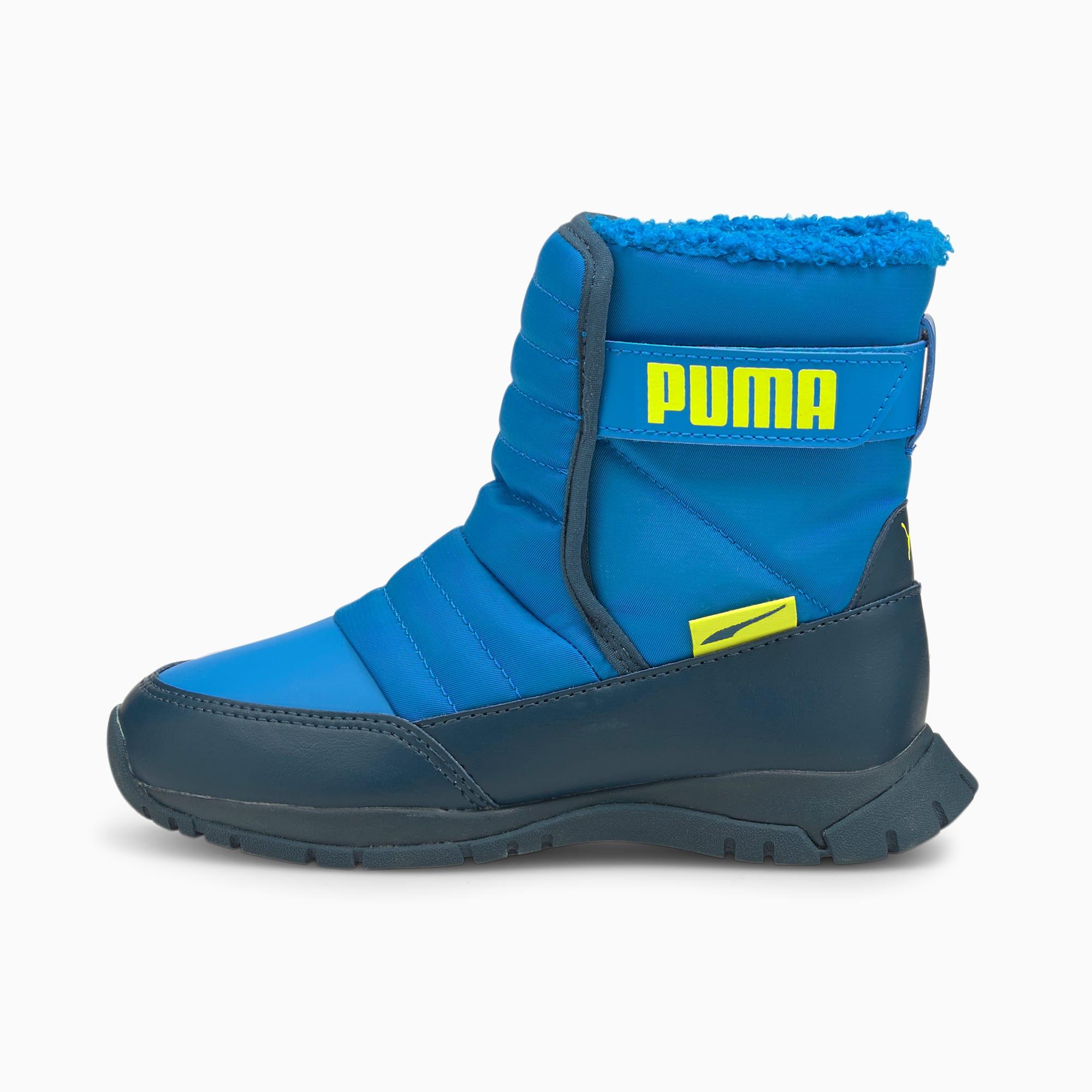 PUMA Chaussure Bottes Nieve Winter enfant, Bleu/Jaune, Taille 29, Chaussures