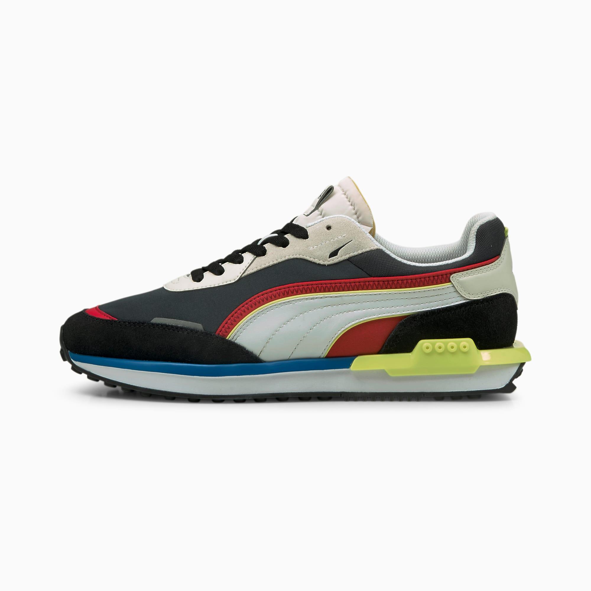 PUMA City Rider Sneaker Schuhe   Mit Aucun   Schwarz   Größe: 42.5