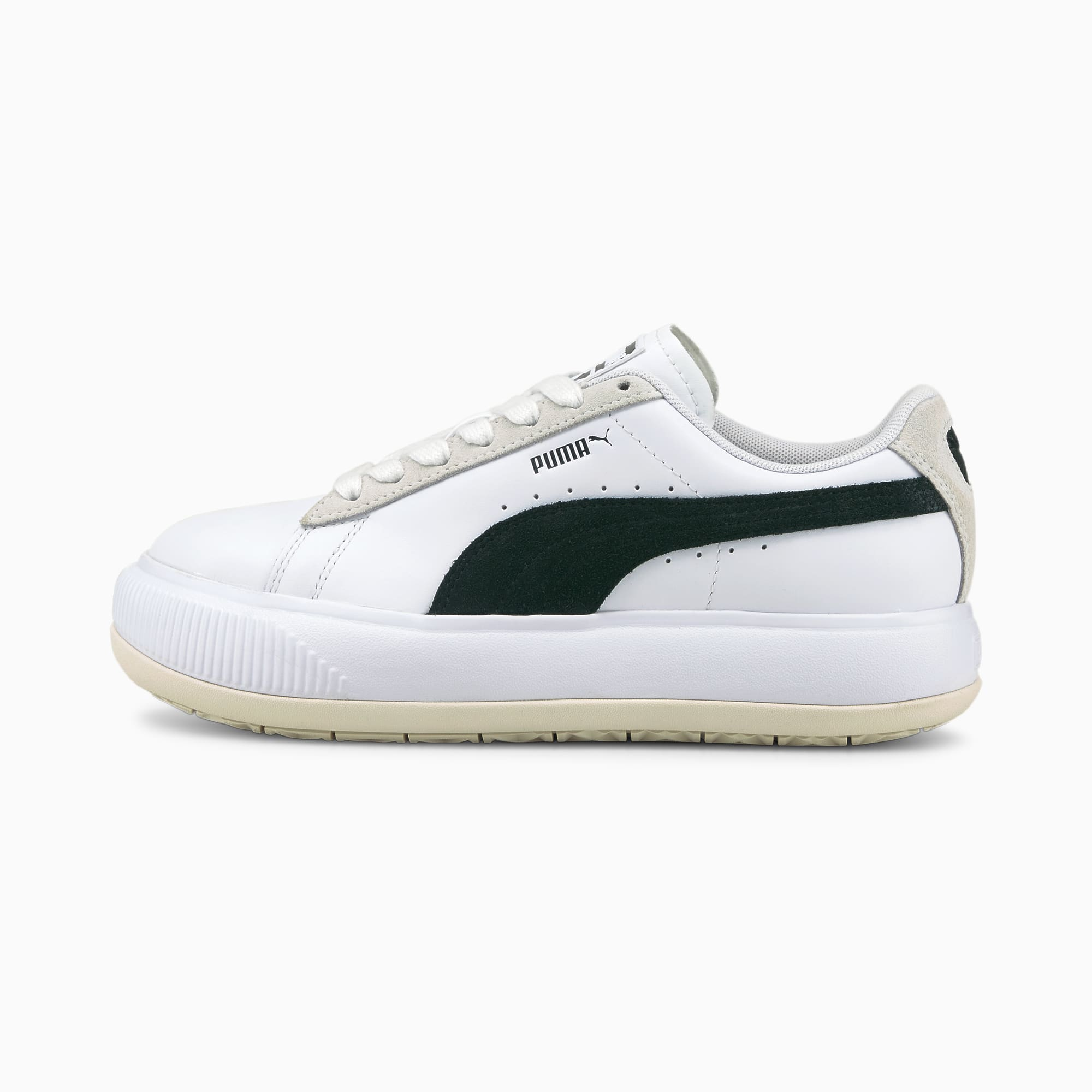 Suede Mayu Mix sneakers dames, Wit/Zwart, Maat 38,5   PUMA