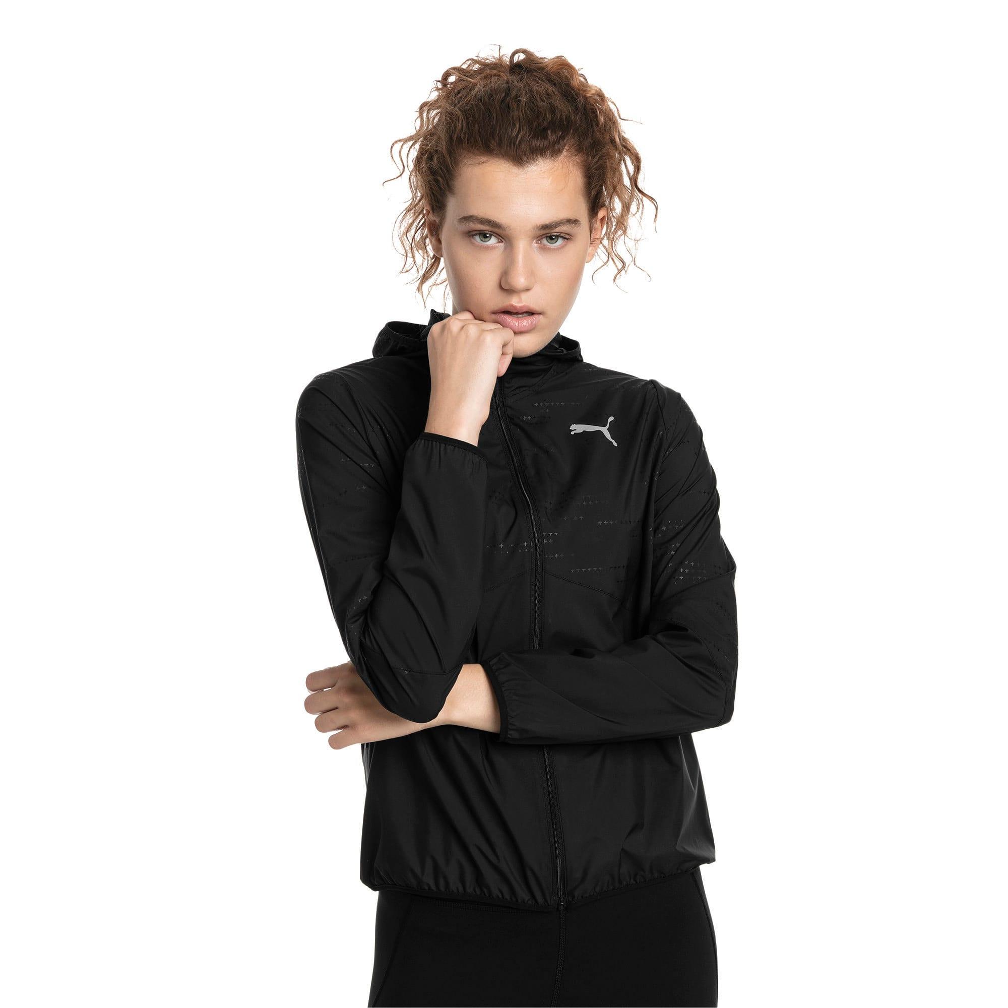 Ignite Woven Hooded Running Track Jacket voor Dames, Zwart, Maat M | PUMA