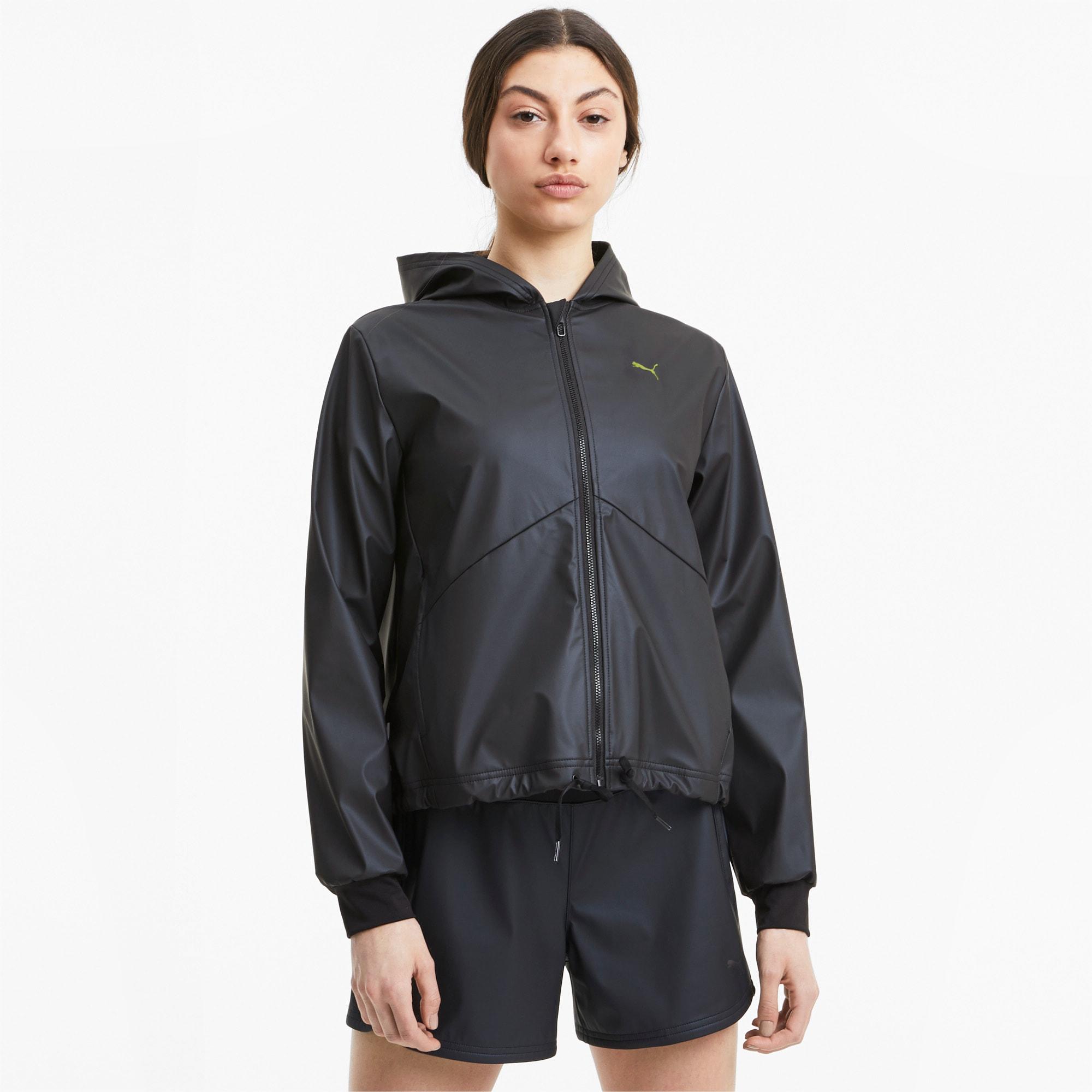 puma -  Warm-Up Shimmer Damen Trainingsjacke mit Kapuze | Mit Aucun | Schwarz | Größe: L