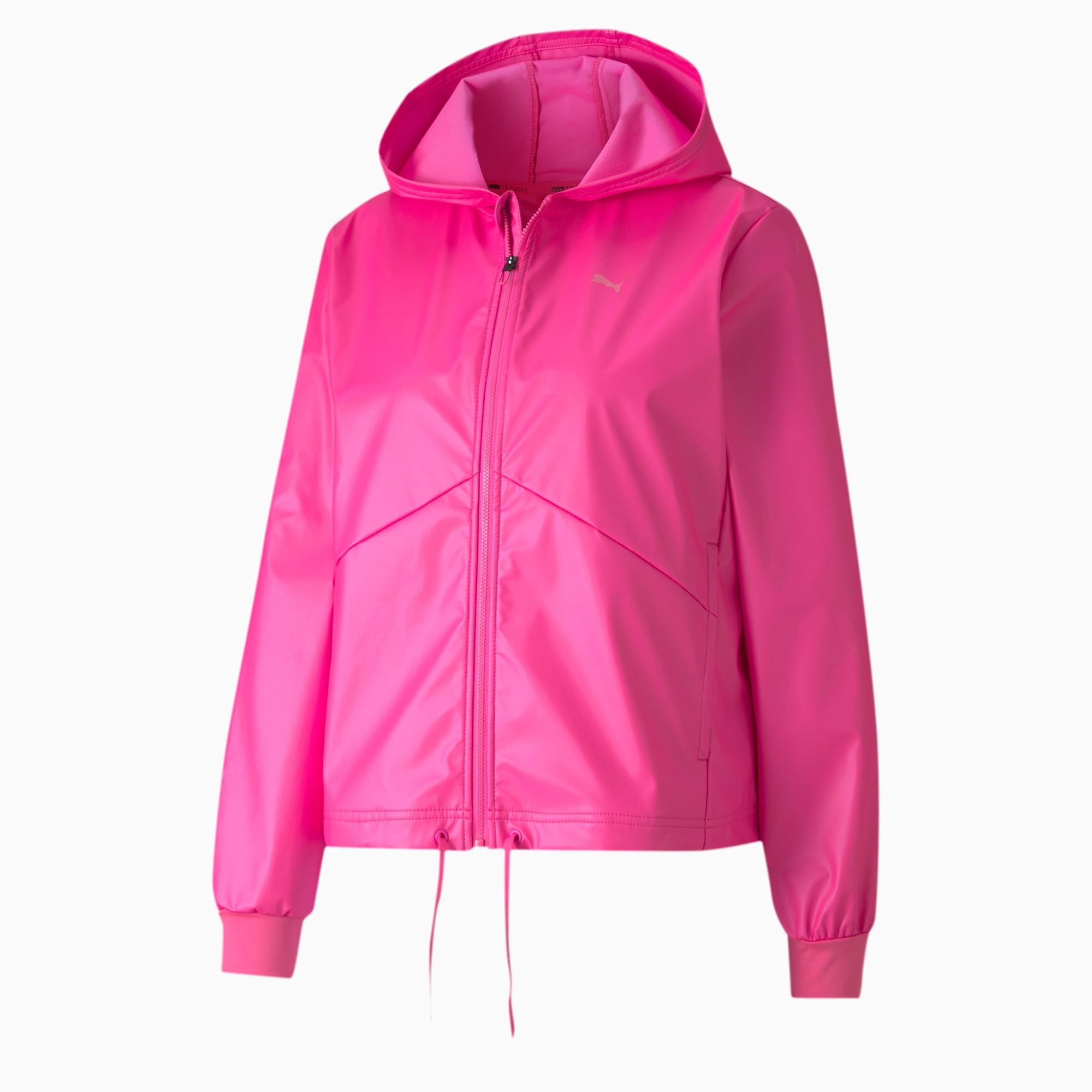puma -  Warm-Up Shimmer Damen Trainingsjacke mit Kapuze | Mit Aucun | Rosa | Größe: XS
