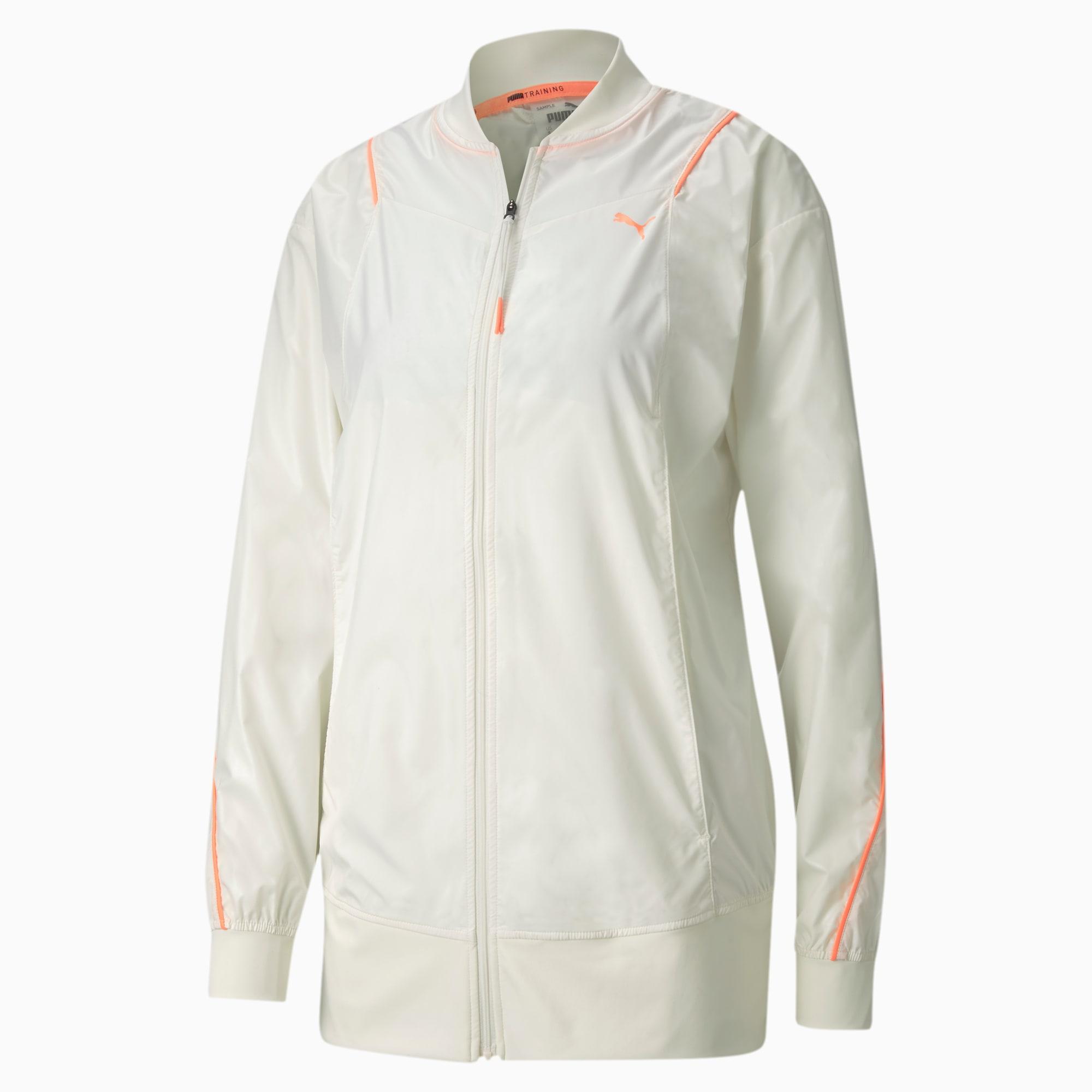 puma -  Pearl Gewebte Damen Trainingsjacke | Mit Aucun | Weiß | Größe: XS