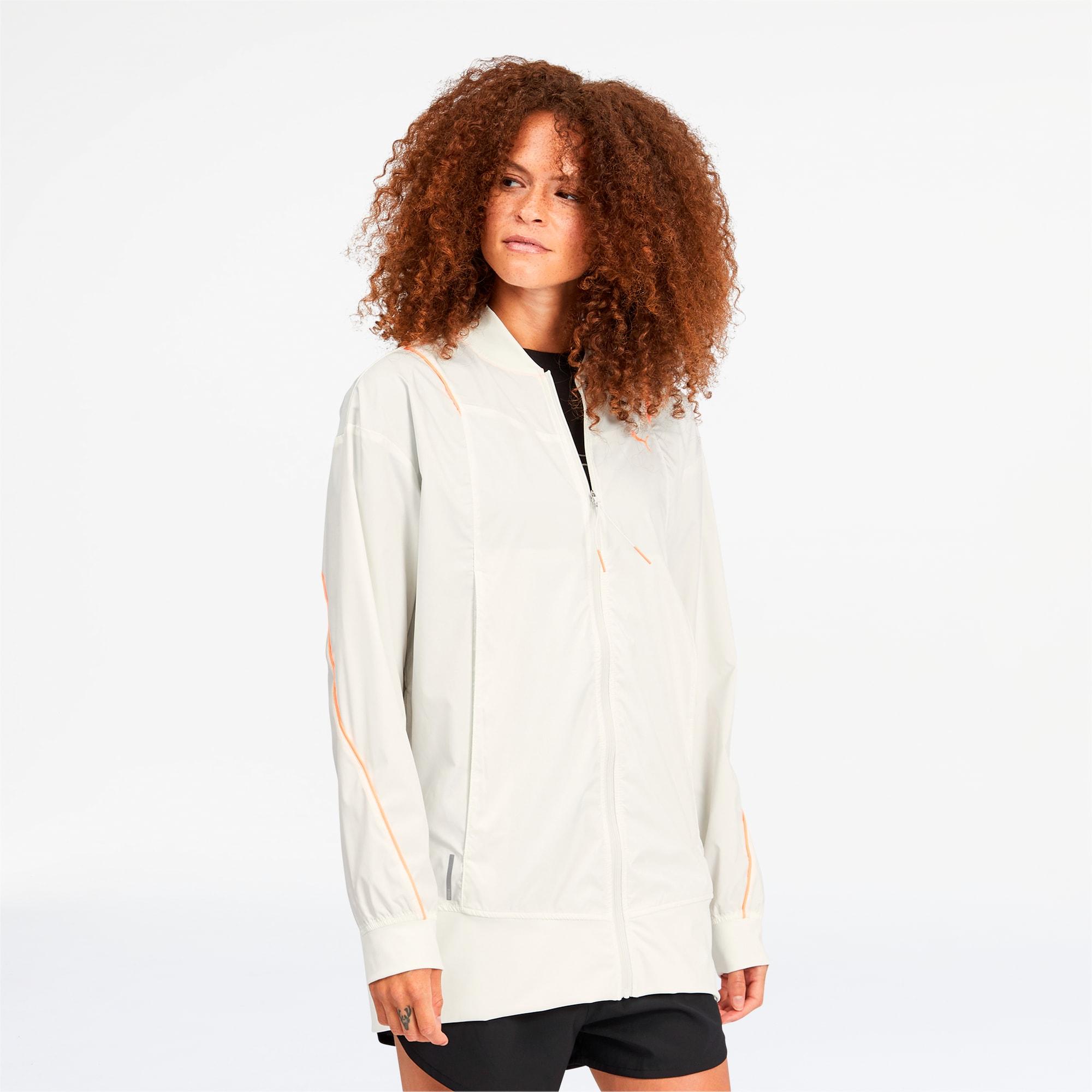 puma -  Pearl Gewebte Damen Trainingsjacke | Mit Aucun | Weiß | Größe: S