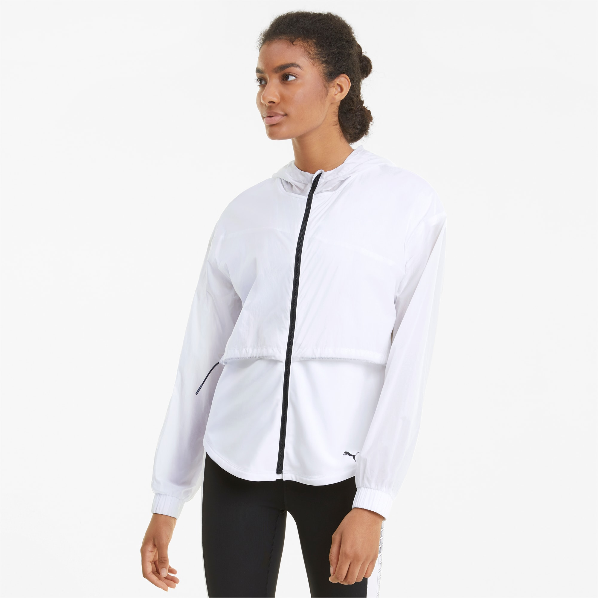 puma -  Ultra Damen Trainingsjacke mit Kapuze | Mit Aucun | Weiß | Größe: M