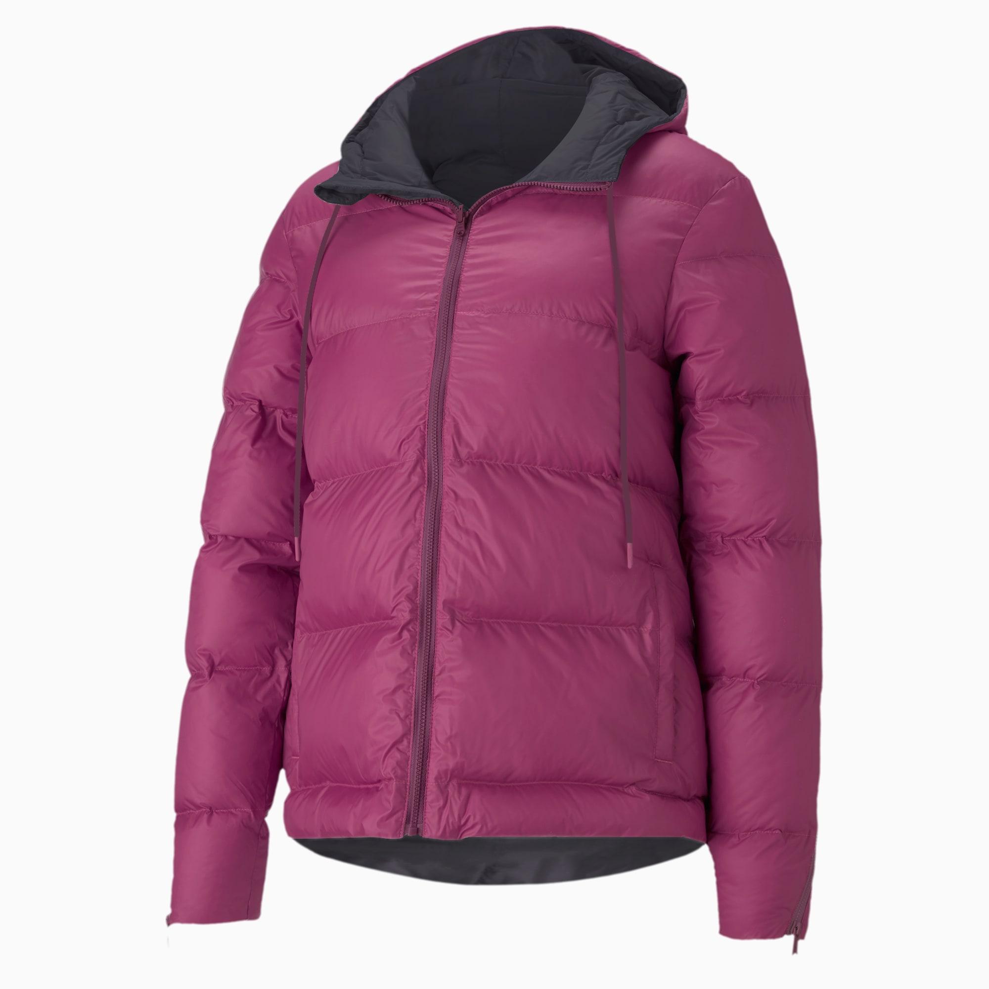 puma -  Forever Luxe Damen Trainingsjacke mit Kapuze | Mit Aucun | Schwarz | Größe: L