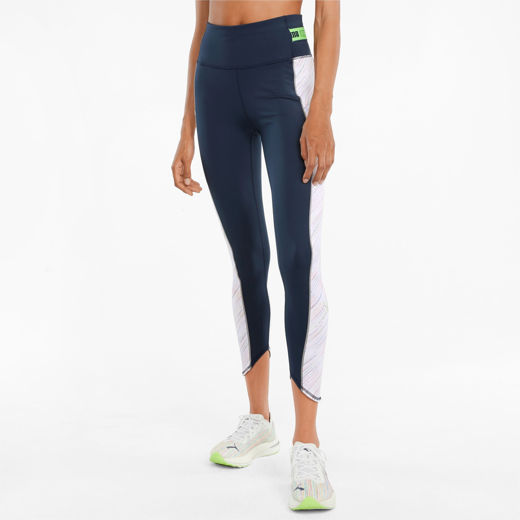 Mallas de Running de Largo 7/8 y Cintura Alta Para Mujer High Shine, Blanco, Talla M   PUMA Mujeres