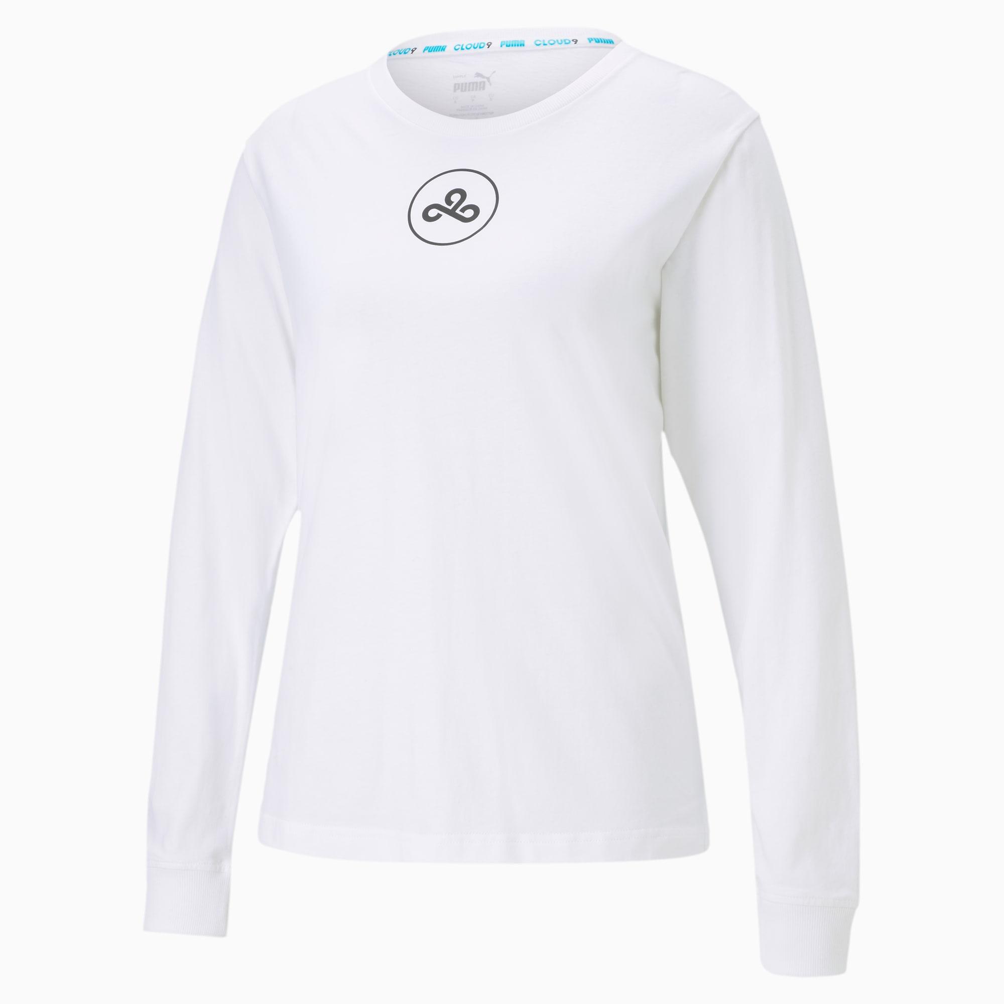 puma -  CLD9 Damen T-Shirt   Mit Aucun   Weiß   Größe: M