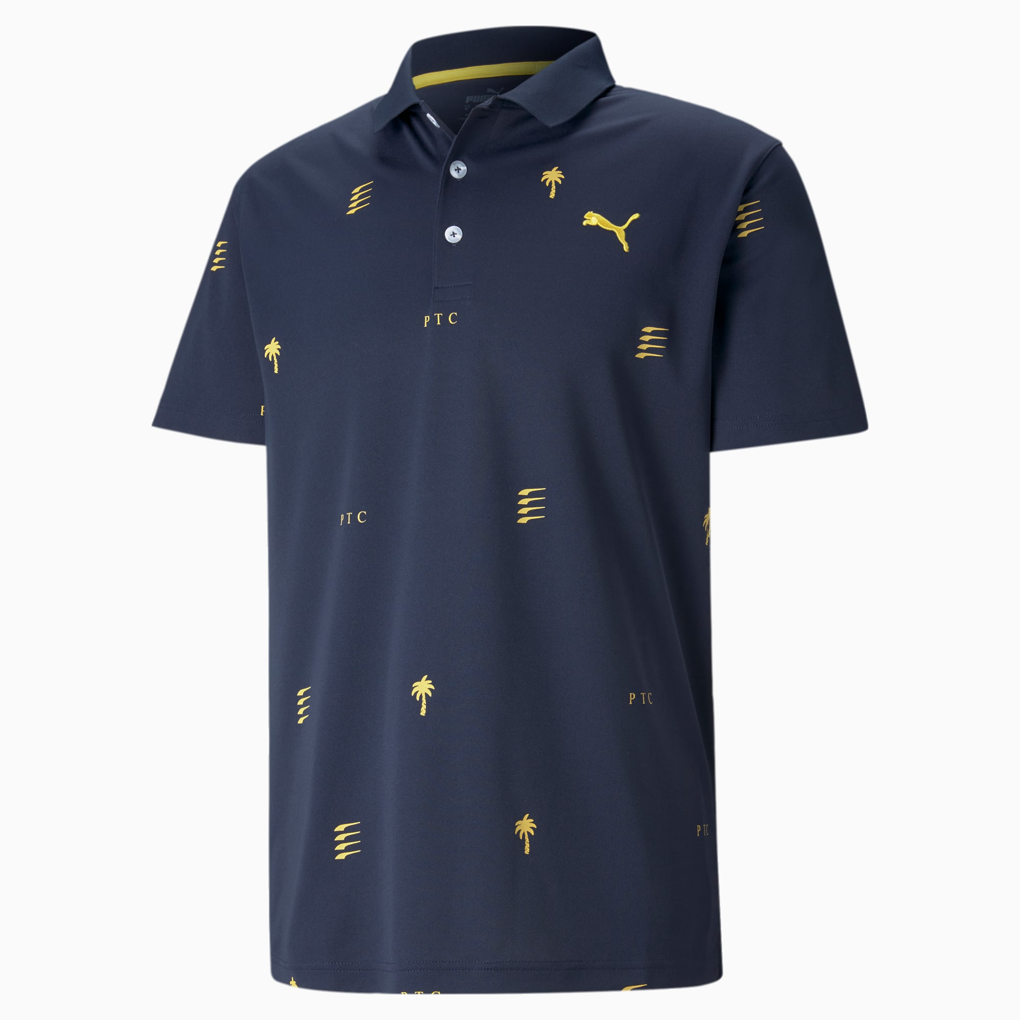 PUMA x PTC Edition golfpoloshirt heren, Blauw, Maat XL