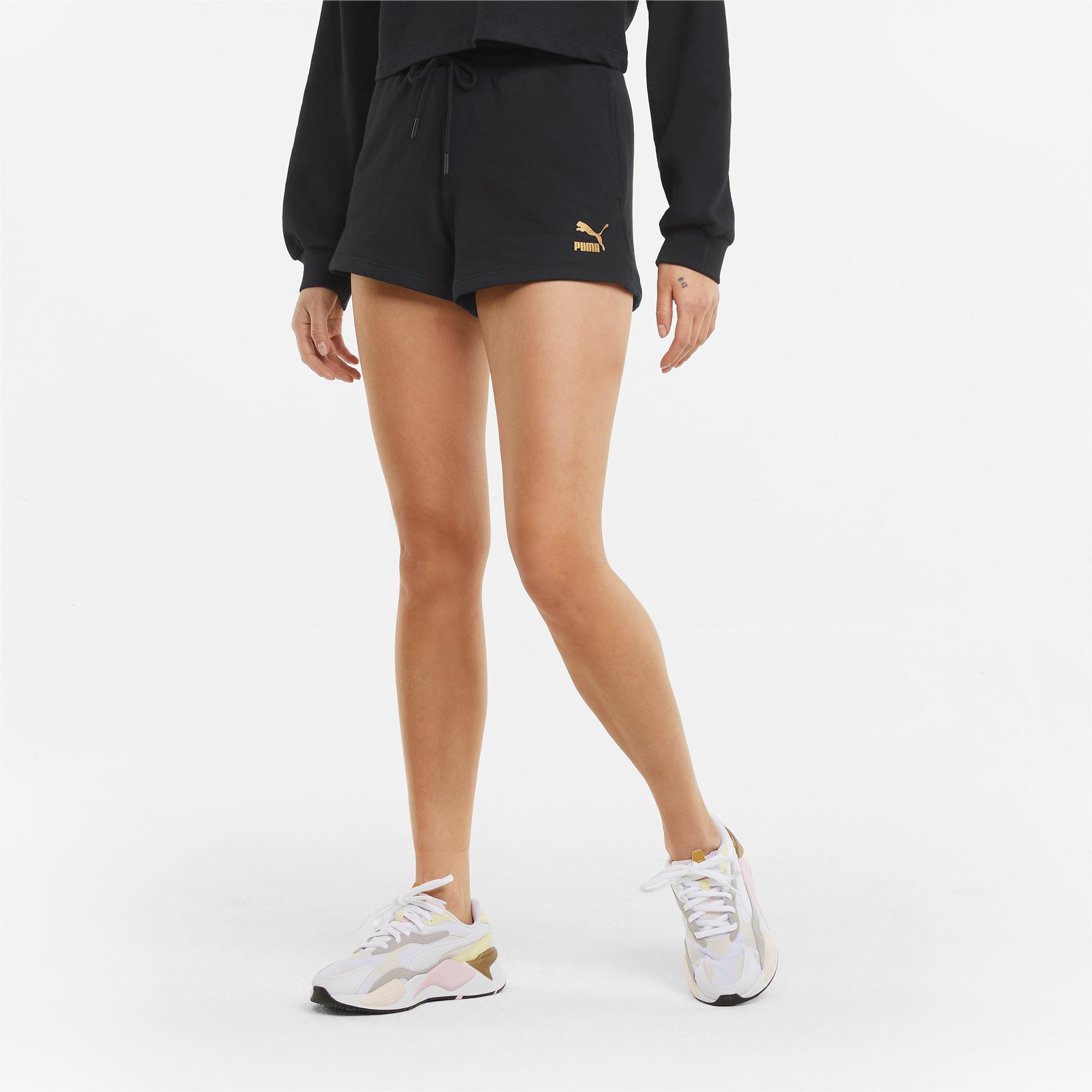 PUMA High-Waist-Shorts   Schwarz   Größe: XL