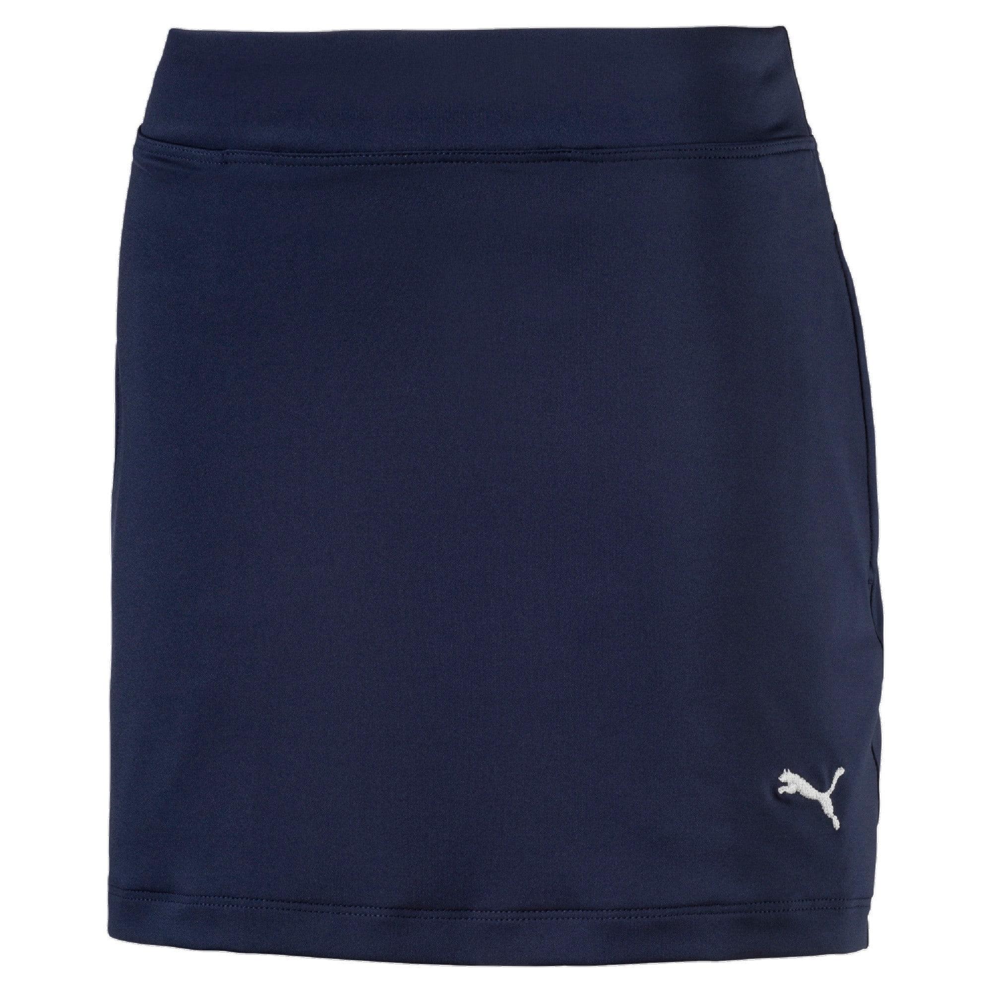 Golf Girls' Solid Knit Skirt, Blauw, Maat 152 | PUMA